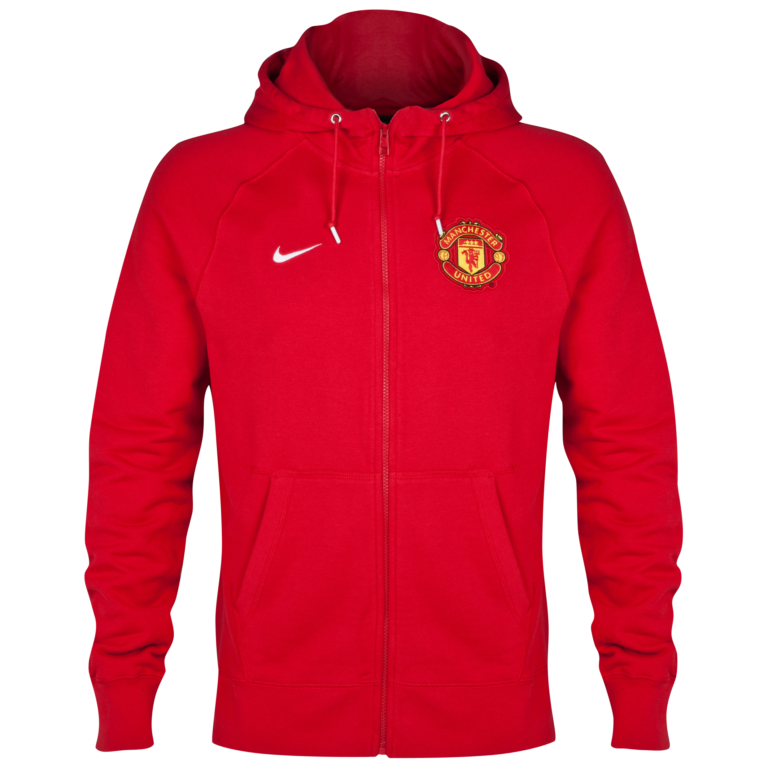 Manchester United Authentic Full Zip Hoody Red
