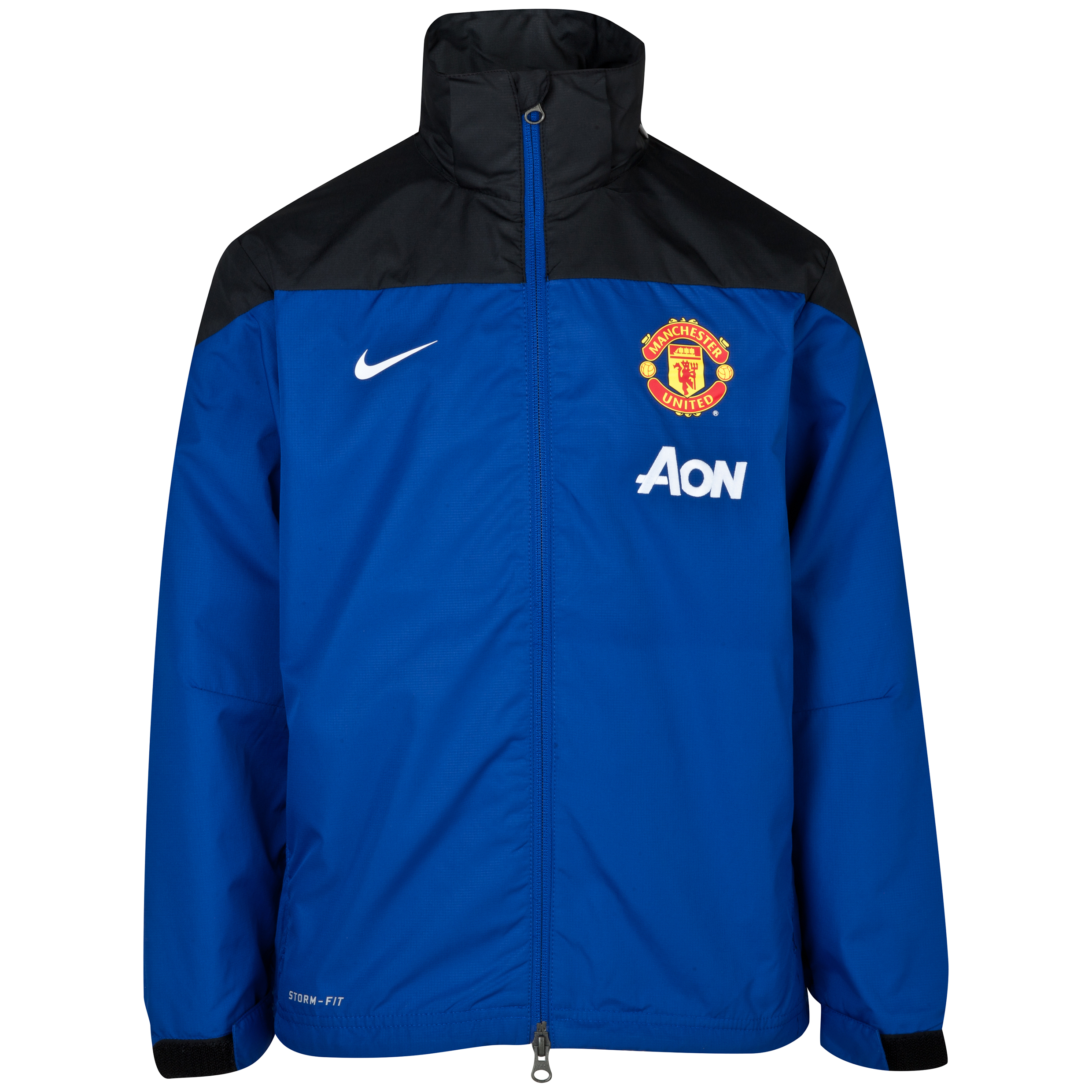 Manchester United Squad Rain Jacket - Kids Black