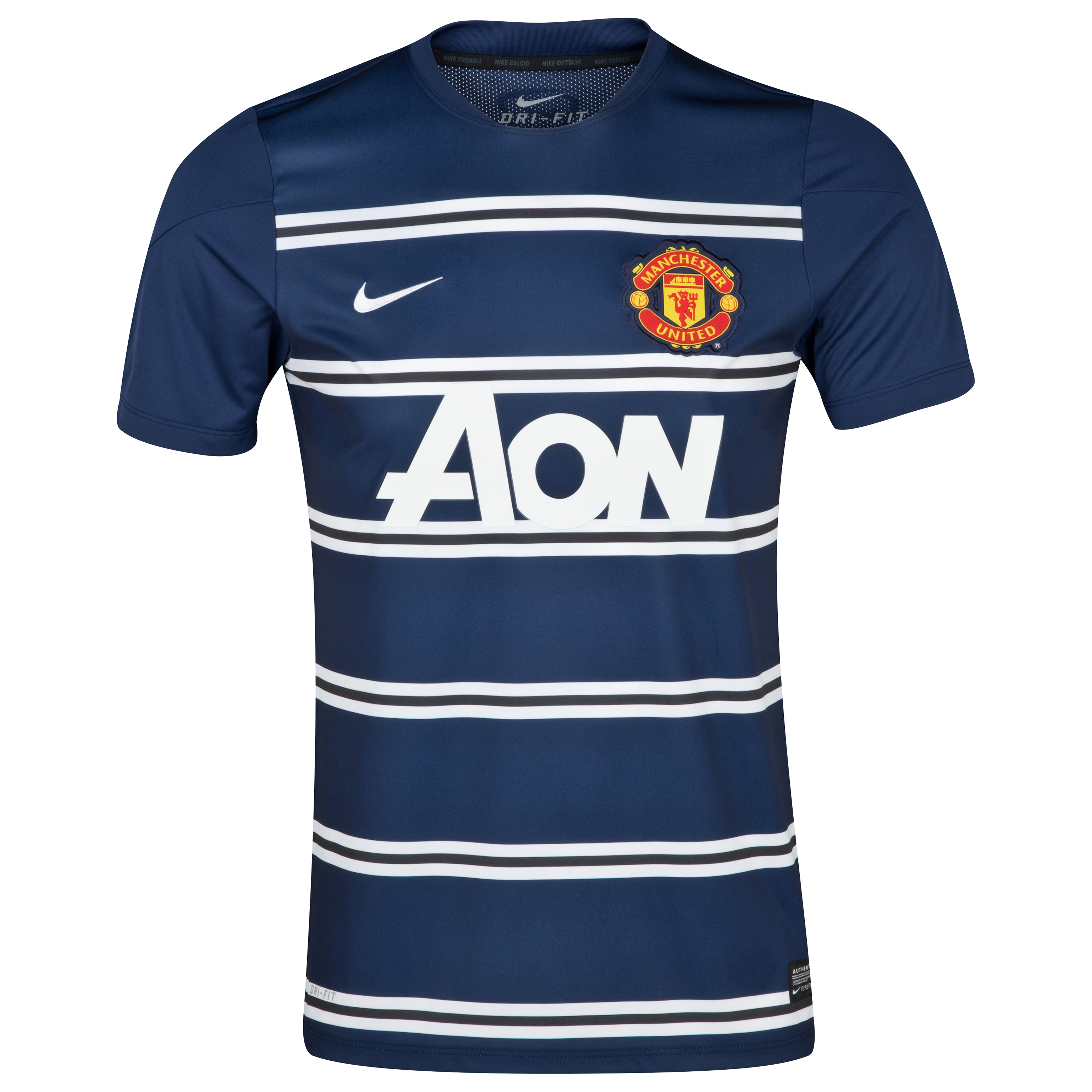 Manchester United Squad Short Sleeve Pre Match Top - Kids Navy