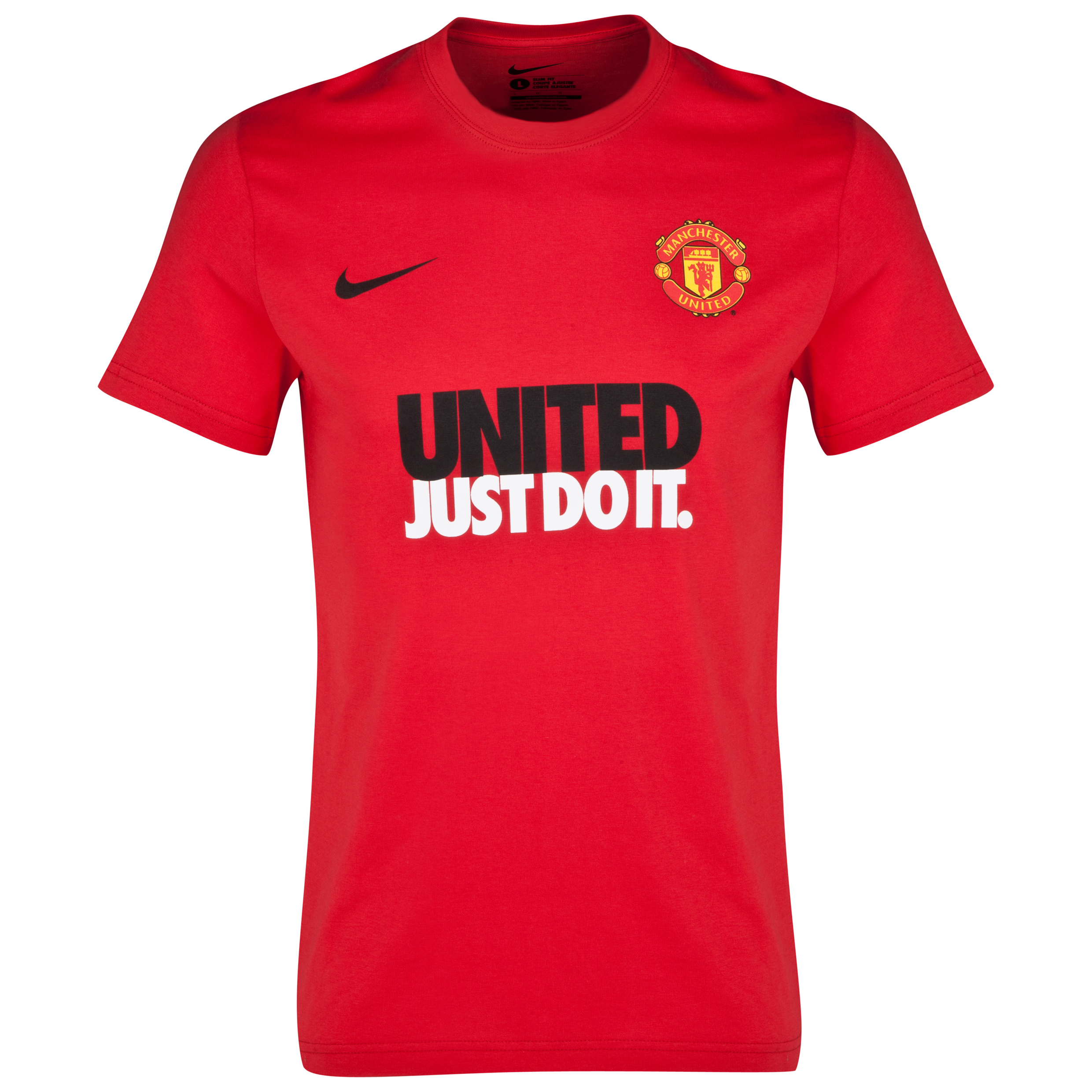 Manchester United Just Do It Core Read T-Shirt - Kids Red