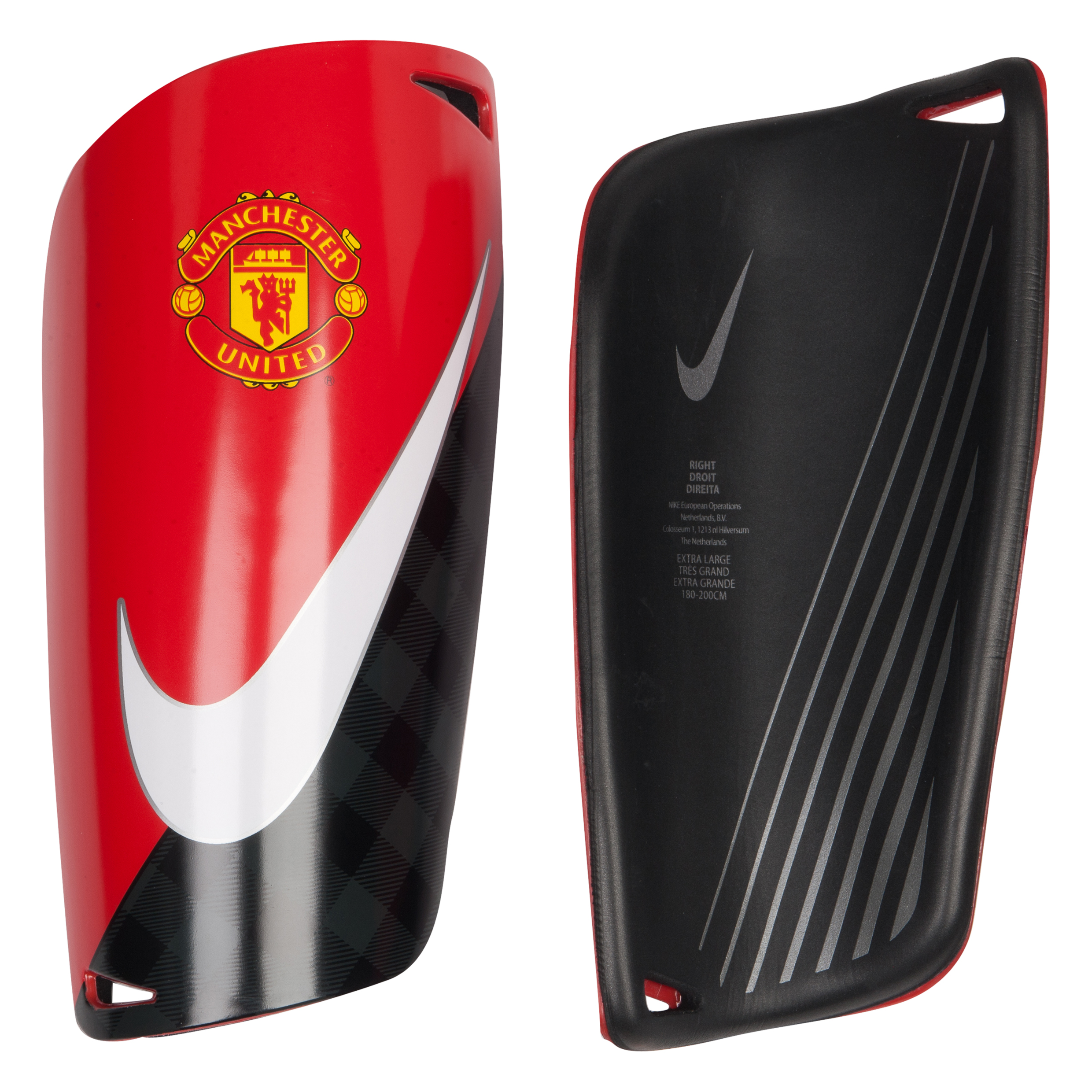 Manchester United Mercurial Lite Shin Pads Red