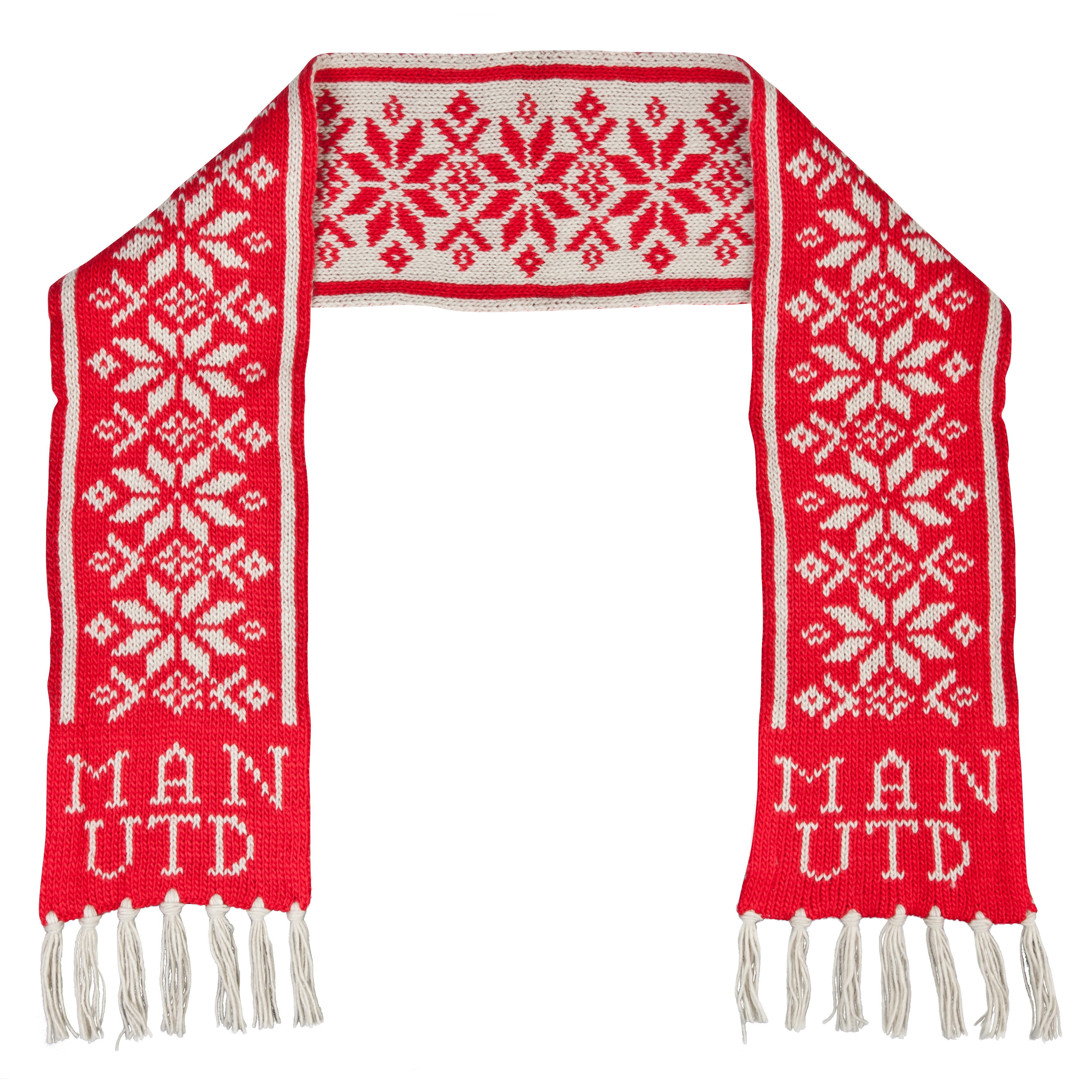 Manchester United Fairisle Scarf - Adult Red