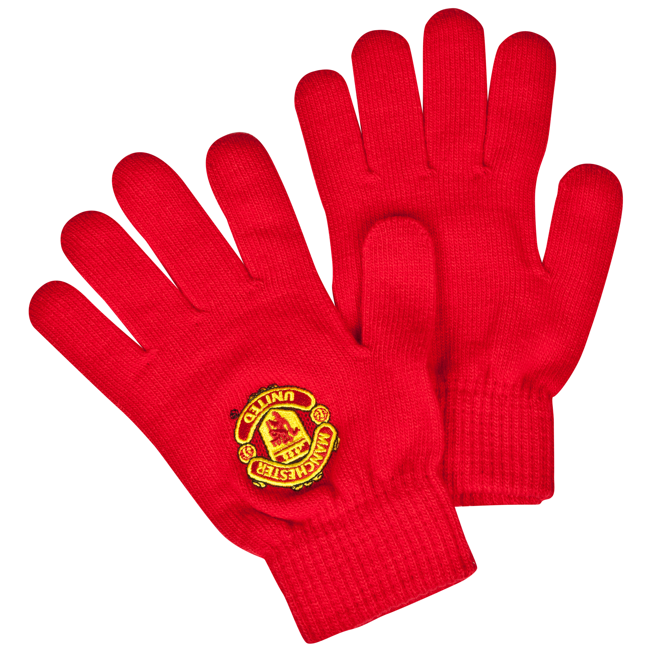 Manchester United Core Crest Gloves - Kids Red