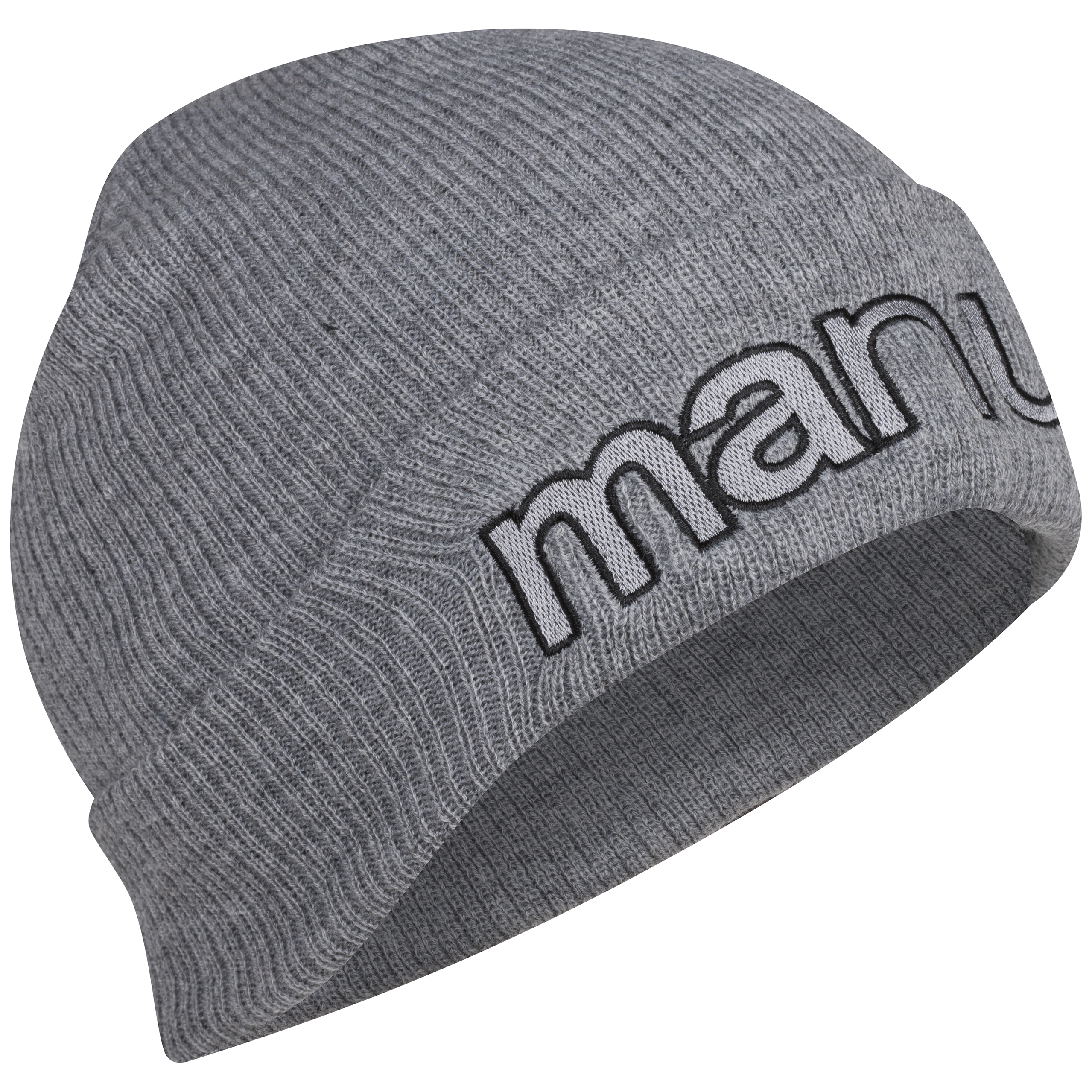 Manchester United Jersey Cuff Beanie Hat - Adult Grey