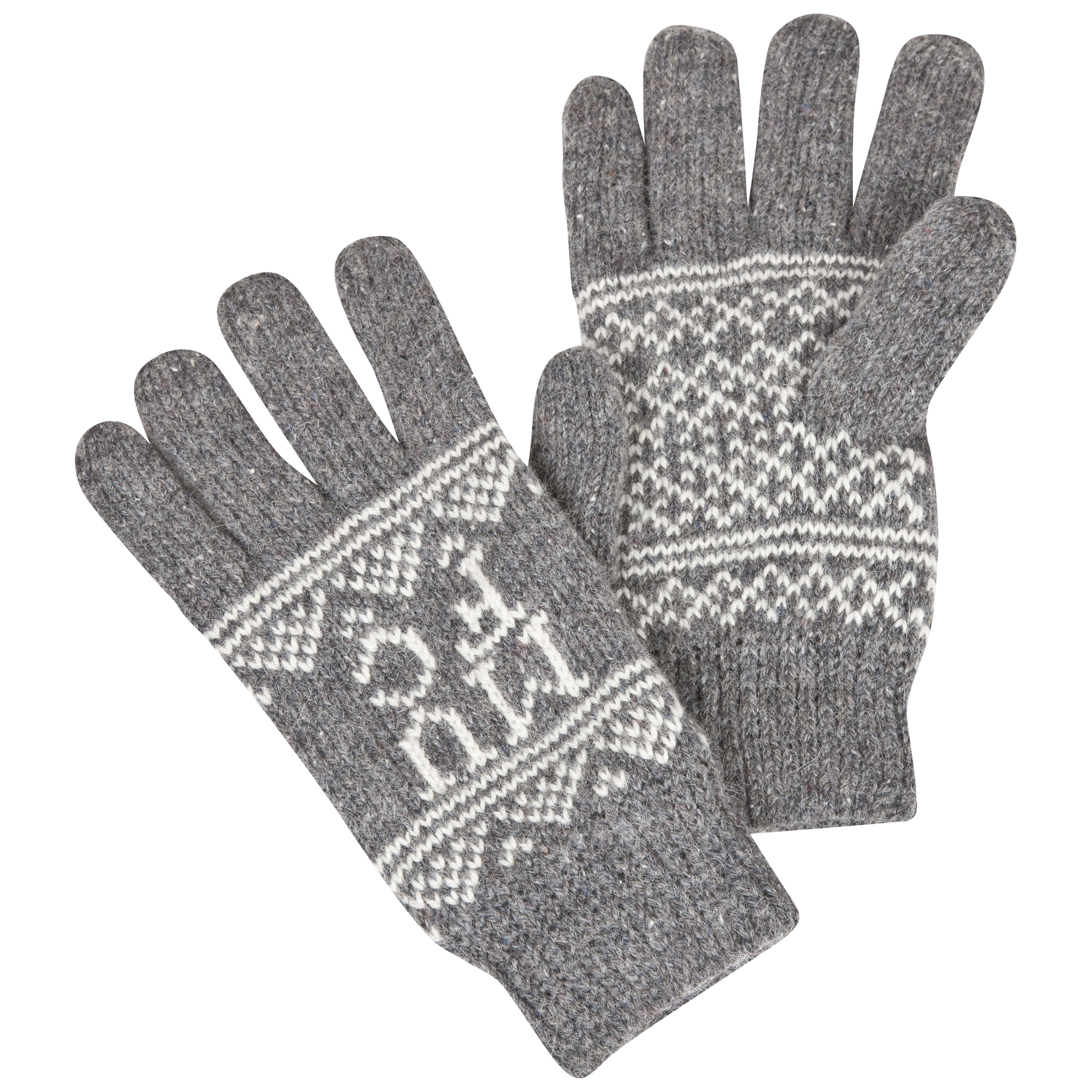 Manchester United Fairisle Gloves - Adult Grey