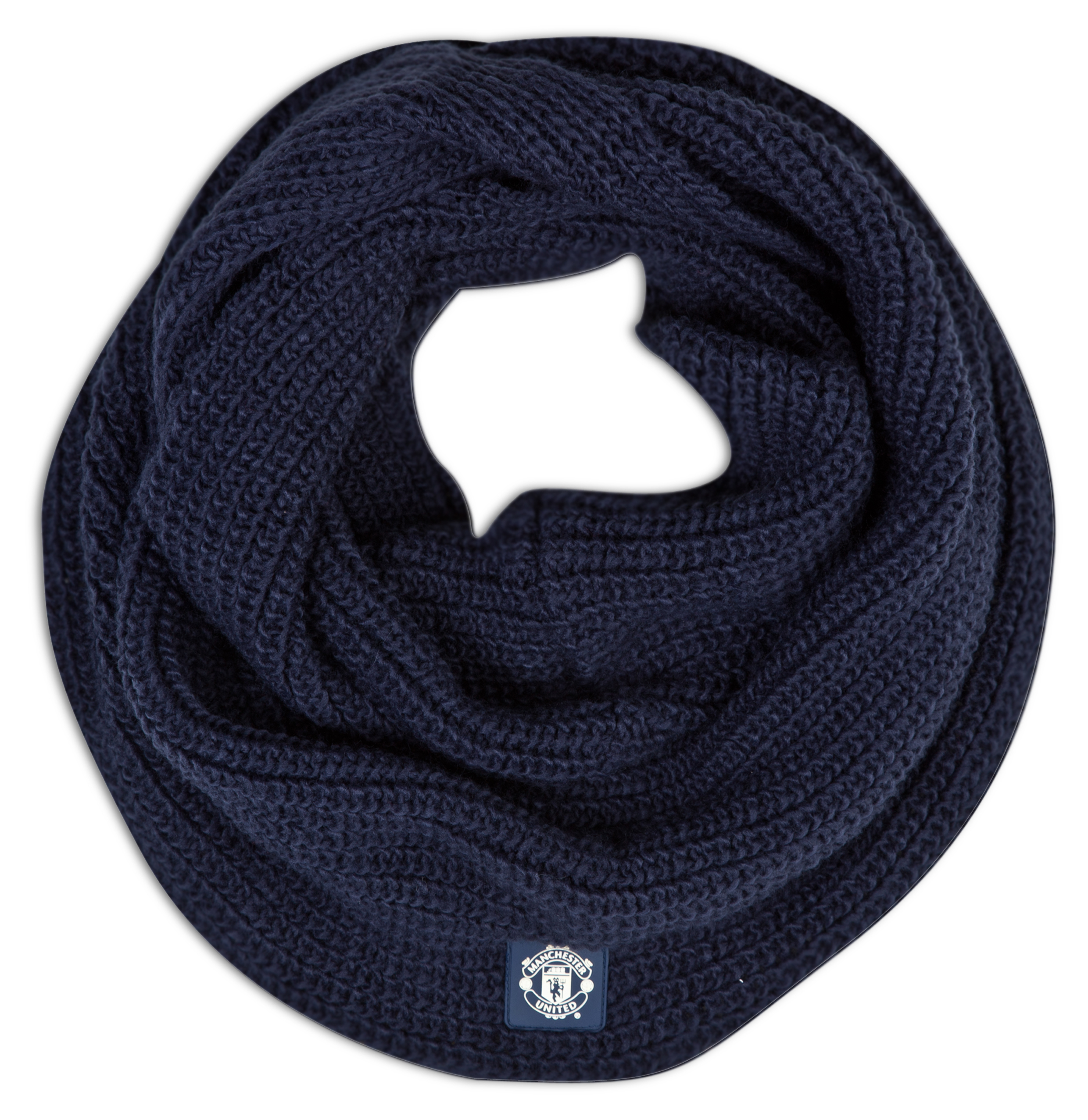 Manchester United Large Loop Fashion Scarf - Womens Navy
