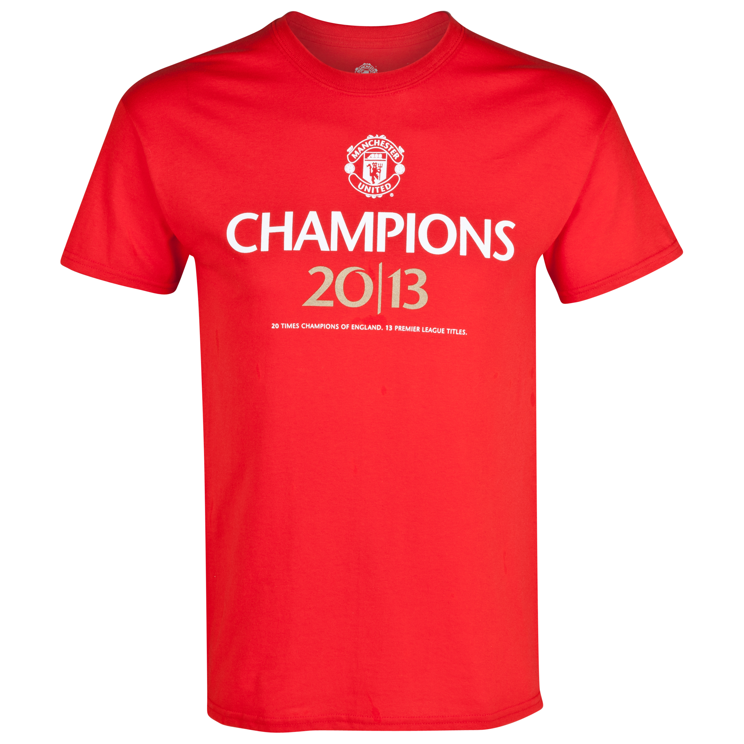 Manchester United Champions 20/13 T-Shirt - Kids Red