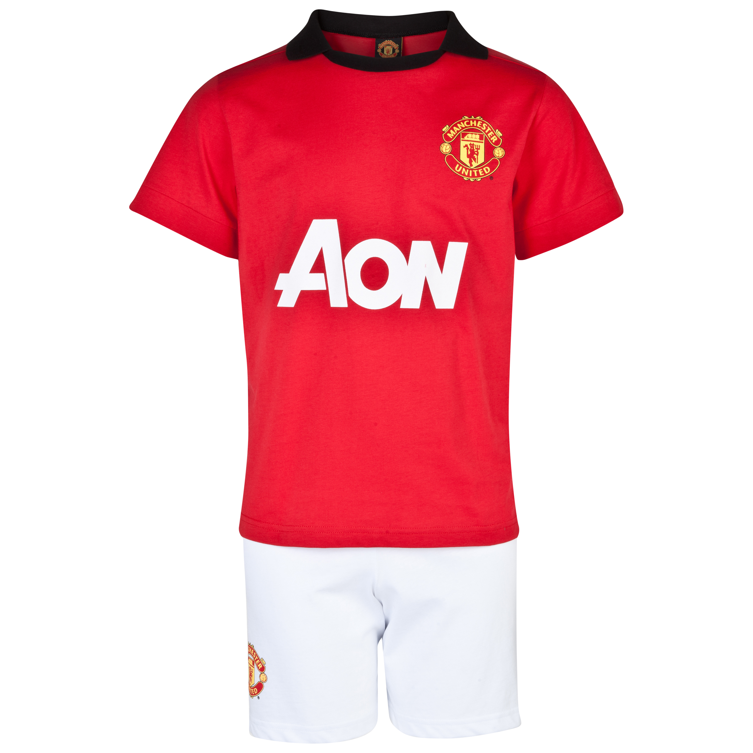 Manchester United Home Kit Pyjamas - Boys Red