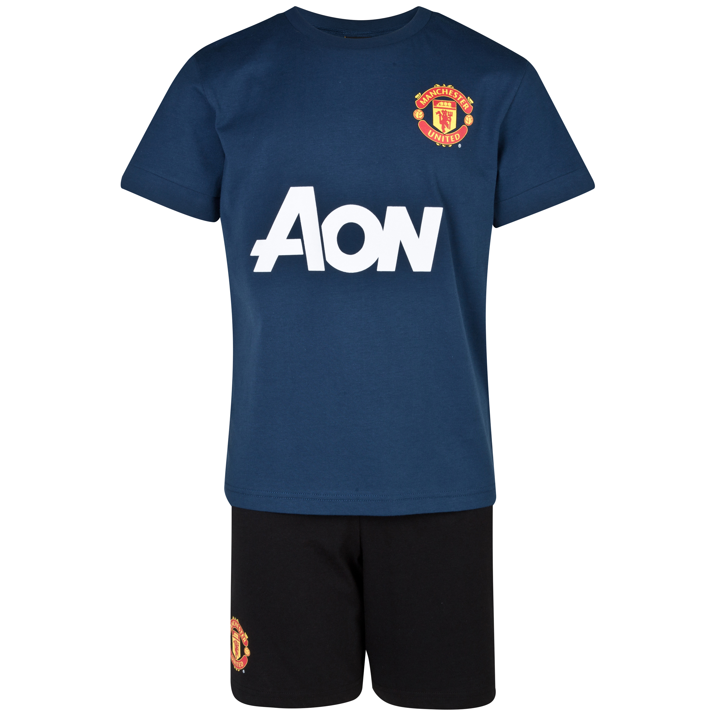 Manchester United Away Kit Pyjamas - Boys Navy