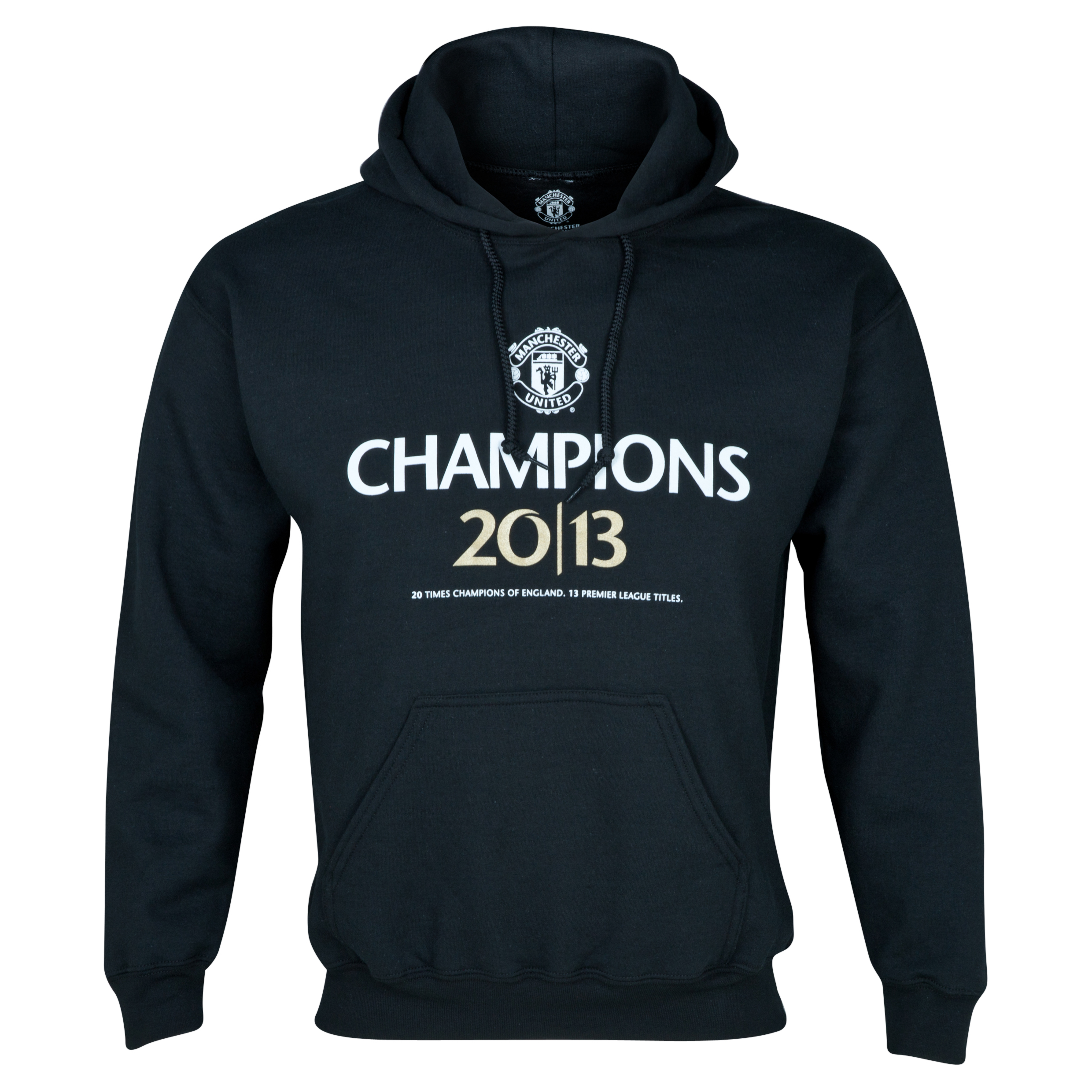 Manchester United 20 Times League Champions Hoodie - Mens Black