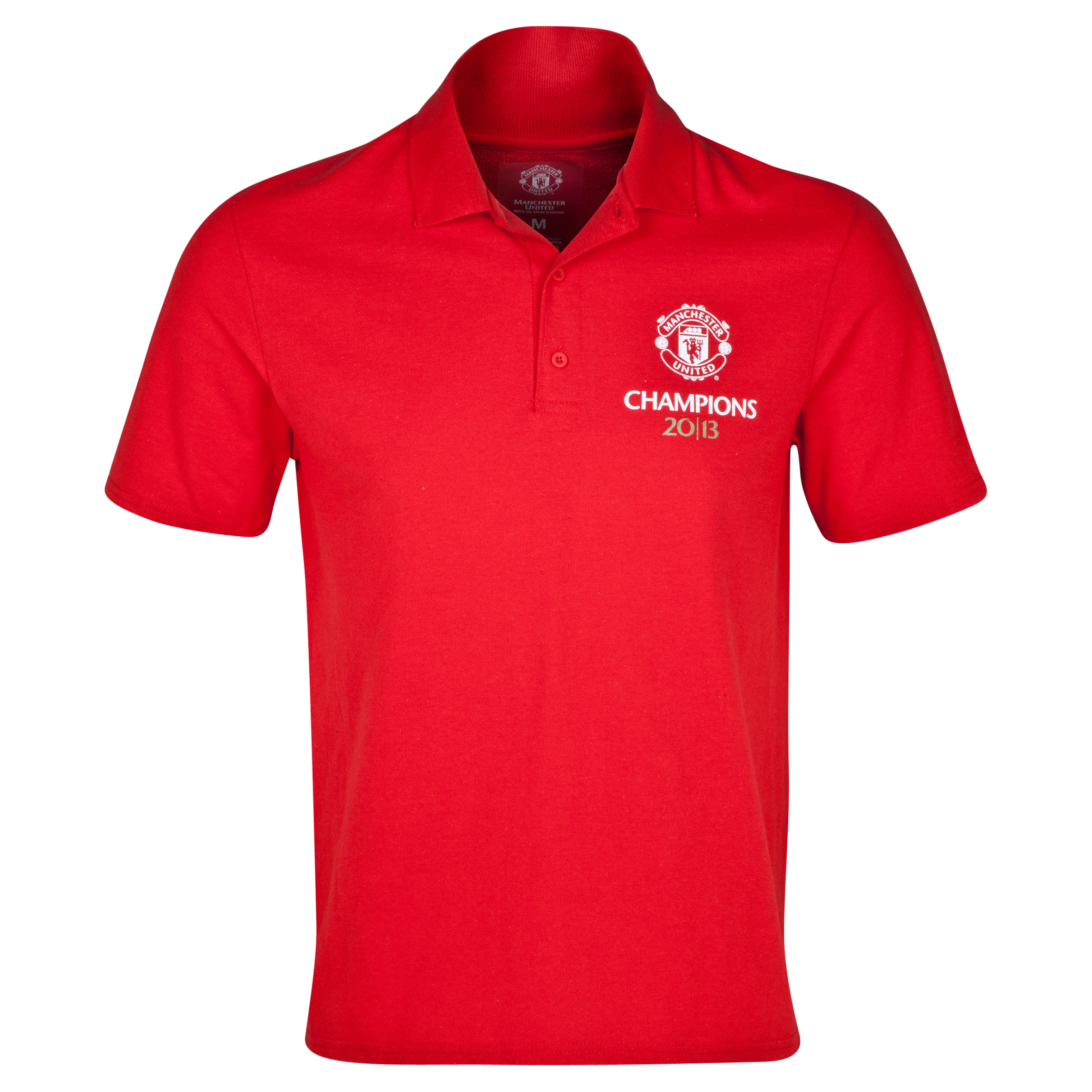 Manchester United 20 Times League Champions Polo - Mens Red