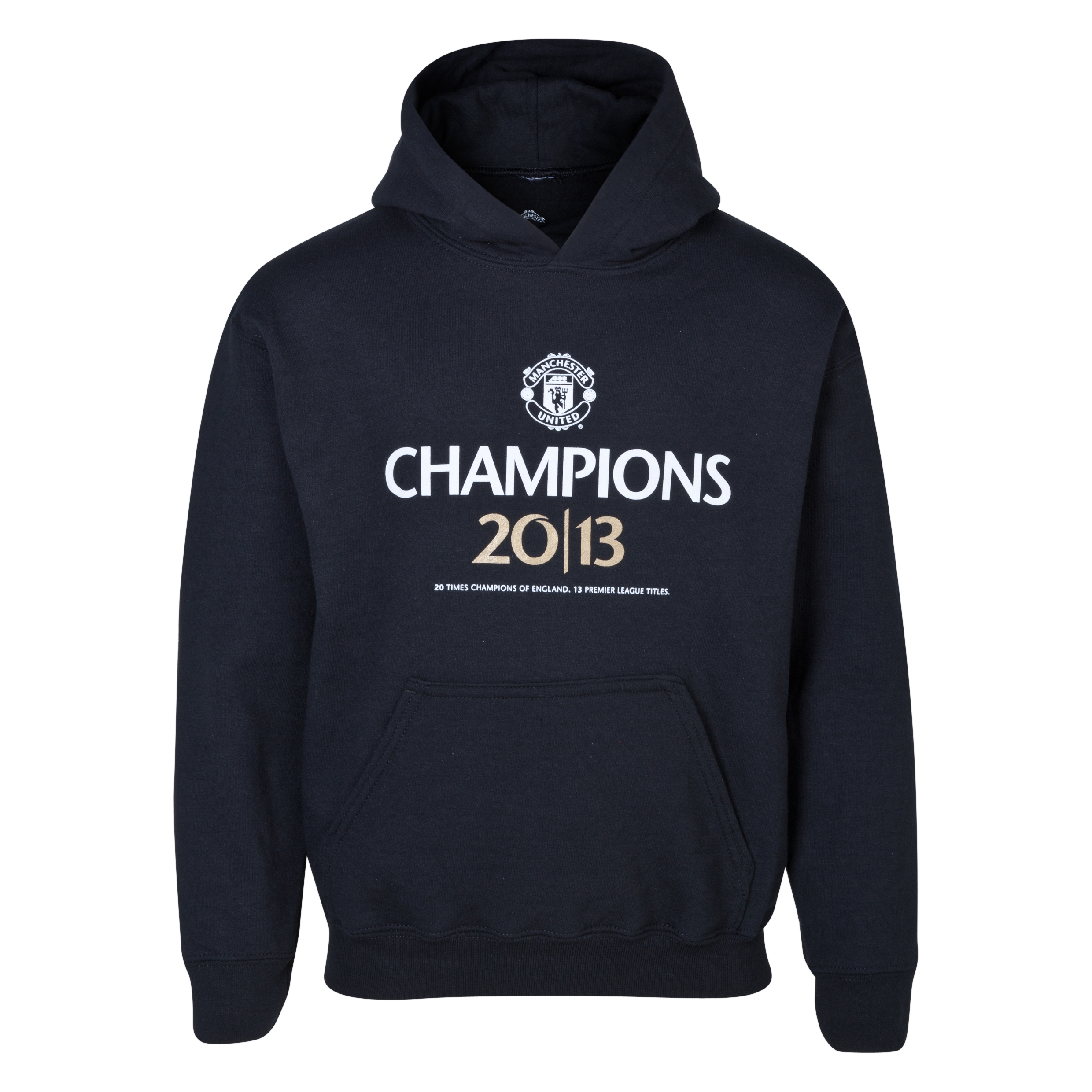 Manchester United 20 Times League Champions Hoodie - Kids Black
