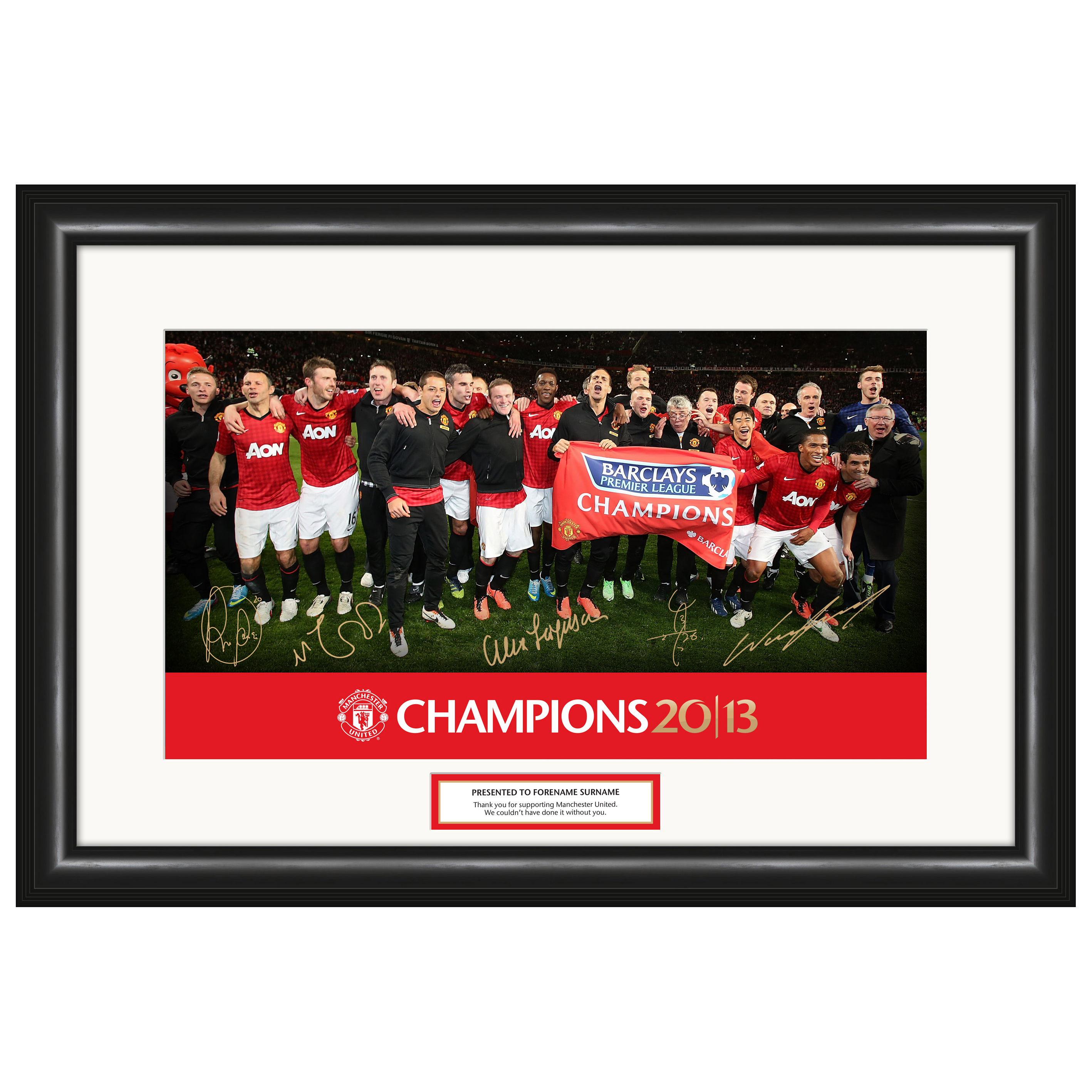 Manchester United Manchester United Personalised 20 League Titles Champions 2013 Photo Framed