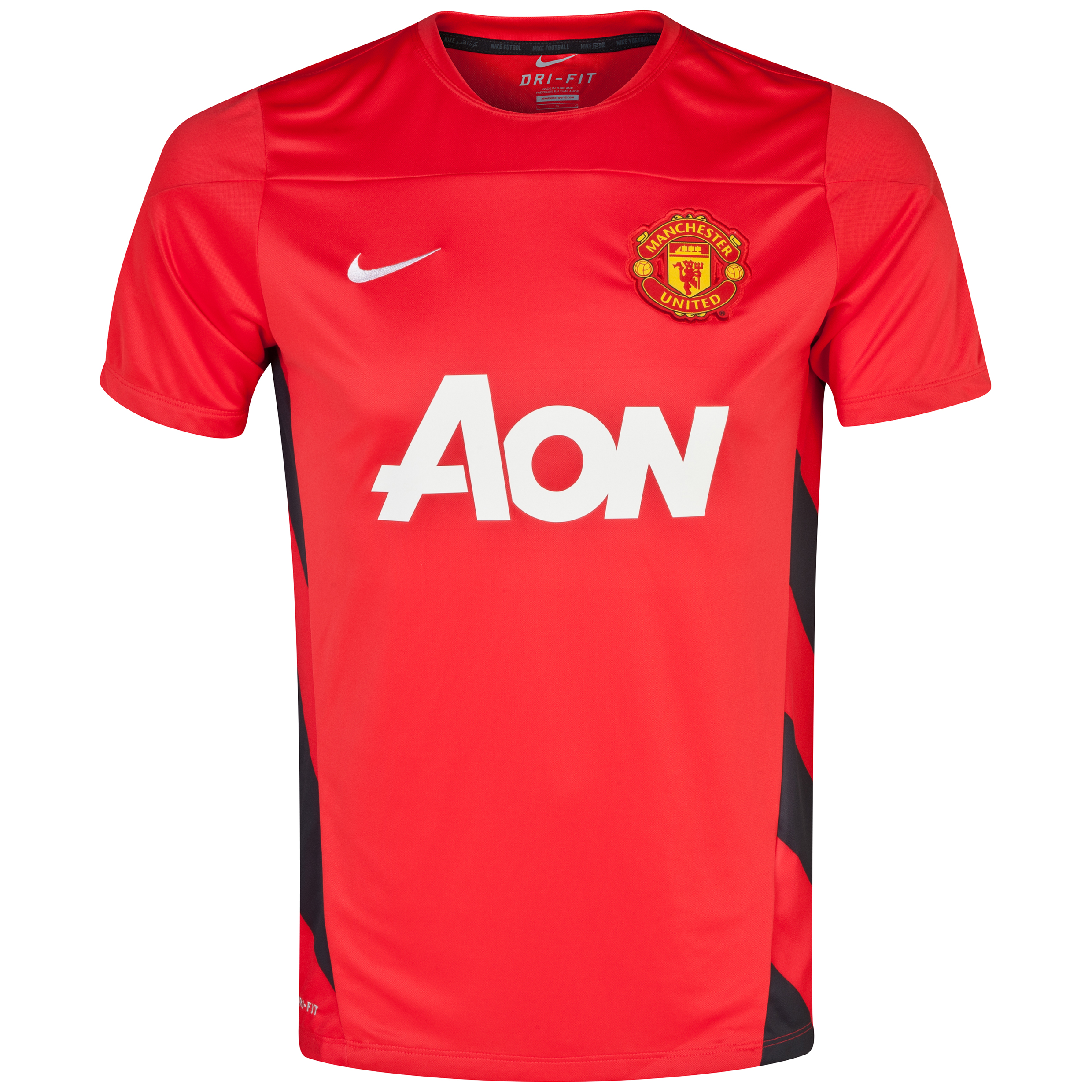 Manchester United UEFA Champions League Squad Short Sleeve Training Top - Challenge Red/Black/White Red