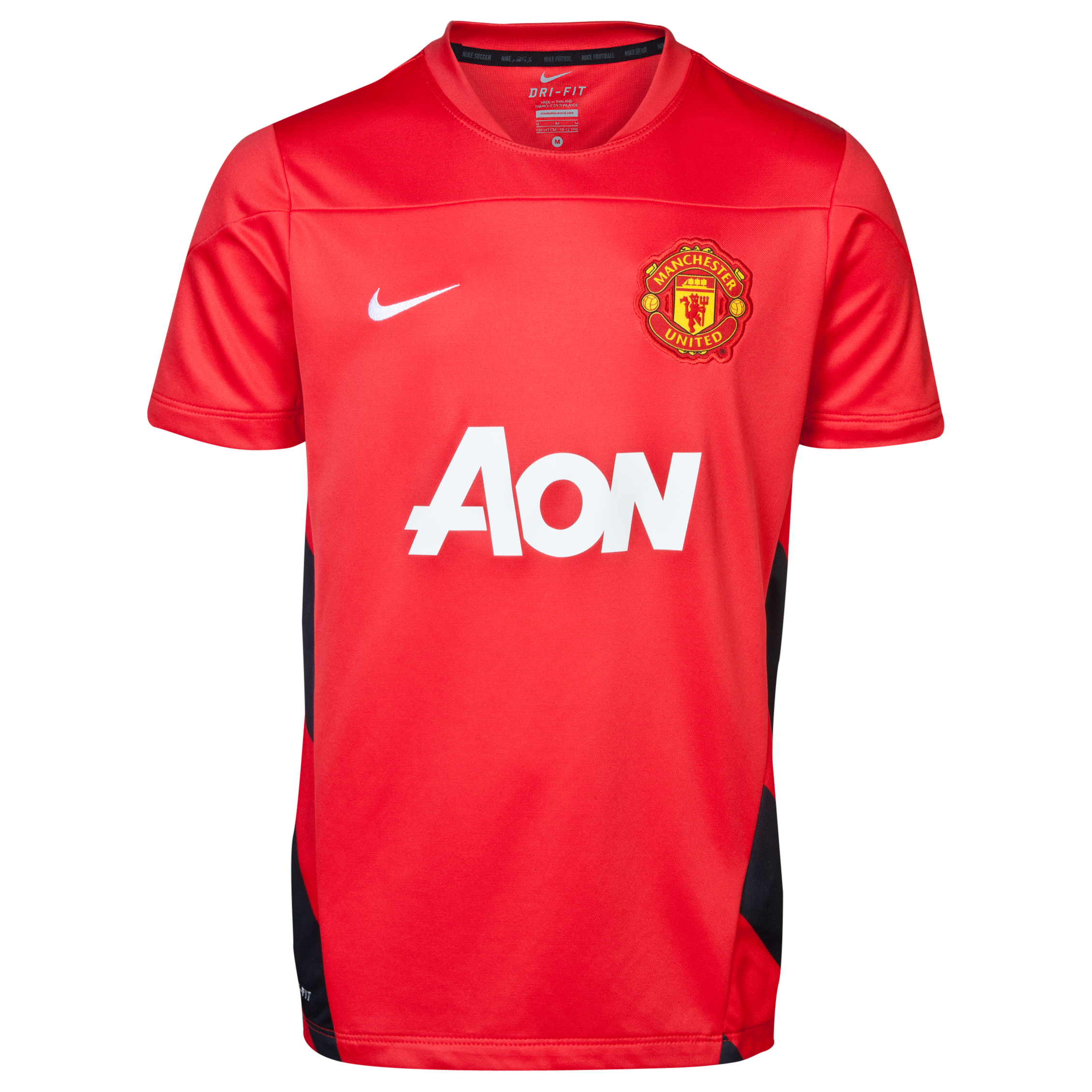 Manchester United UEFA Champions League Squad Short Sleeve Training Top - Challenge Red/Black/White - Kids Red