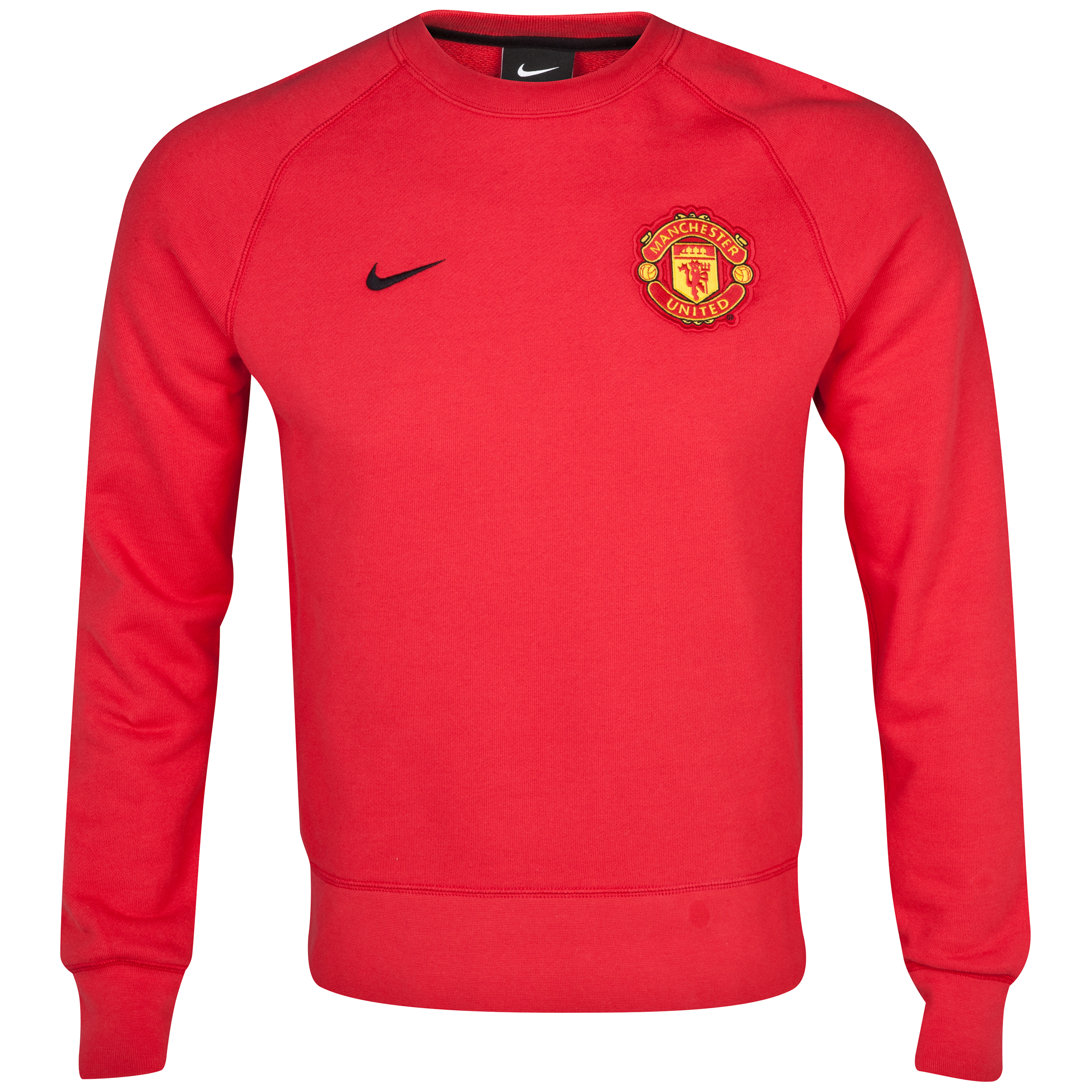 Manchester United Authentic AW77 Crew Sweatshirt - Diablo Red/Black Red