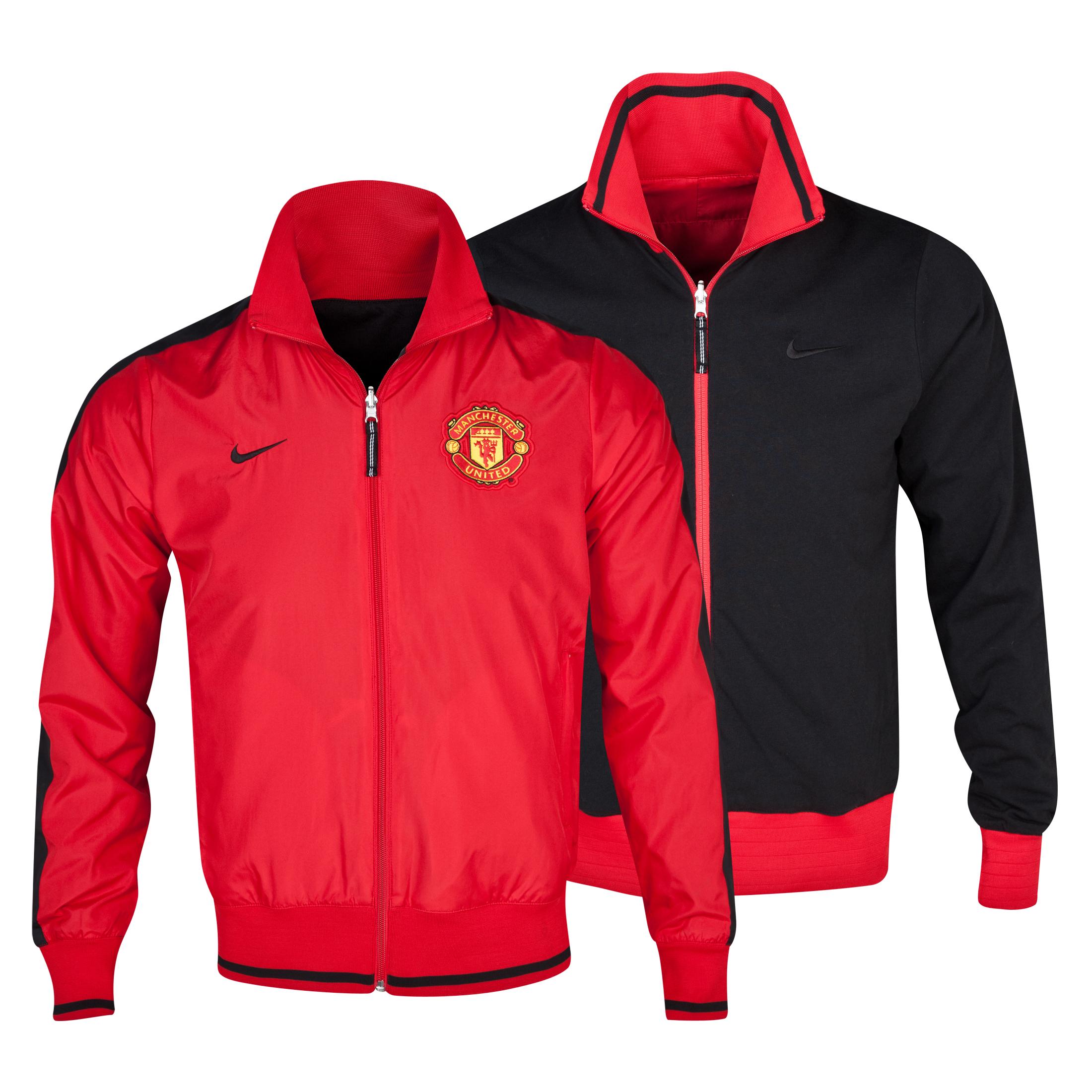 Manchester United Authentic Reversible Jacket - Diablo Red/Black Red