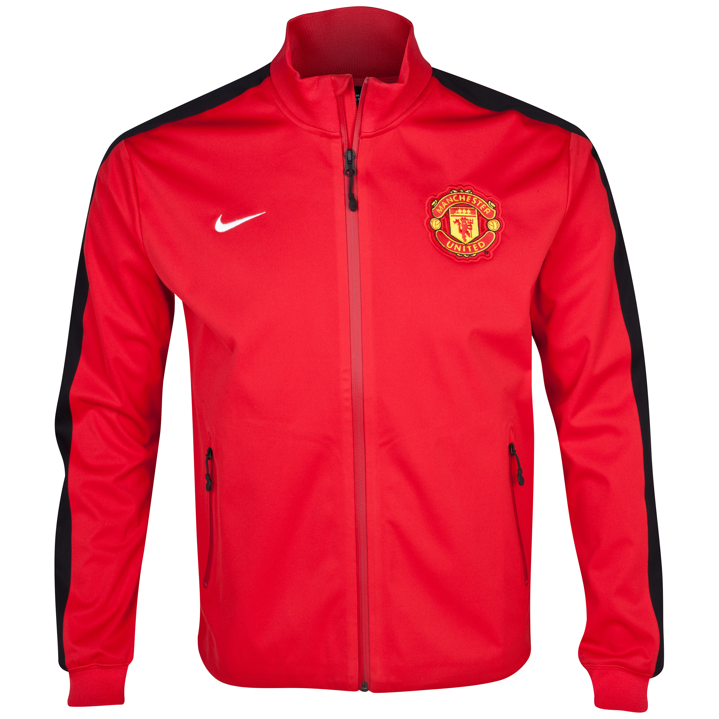 Manchester United Authentic UEFA Champions League N98 Jacket - Diablo Red/Black/White Red