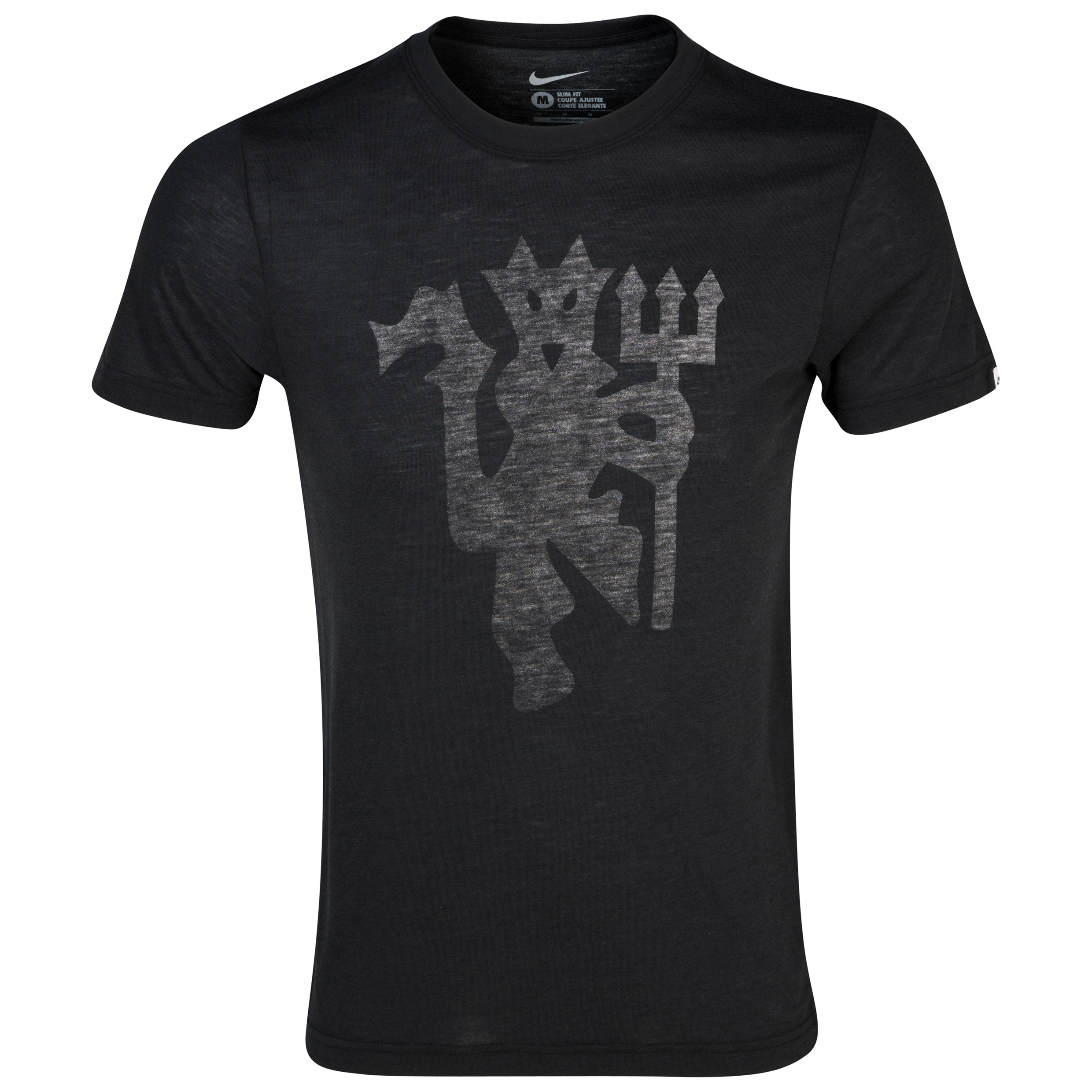 Manchester United Covert Graphic T-Shirt - Black Black