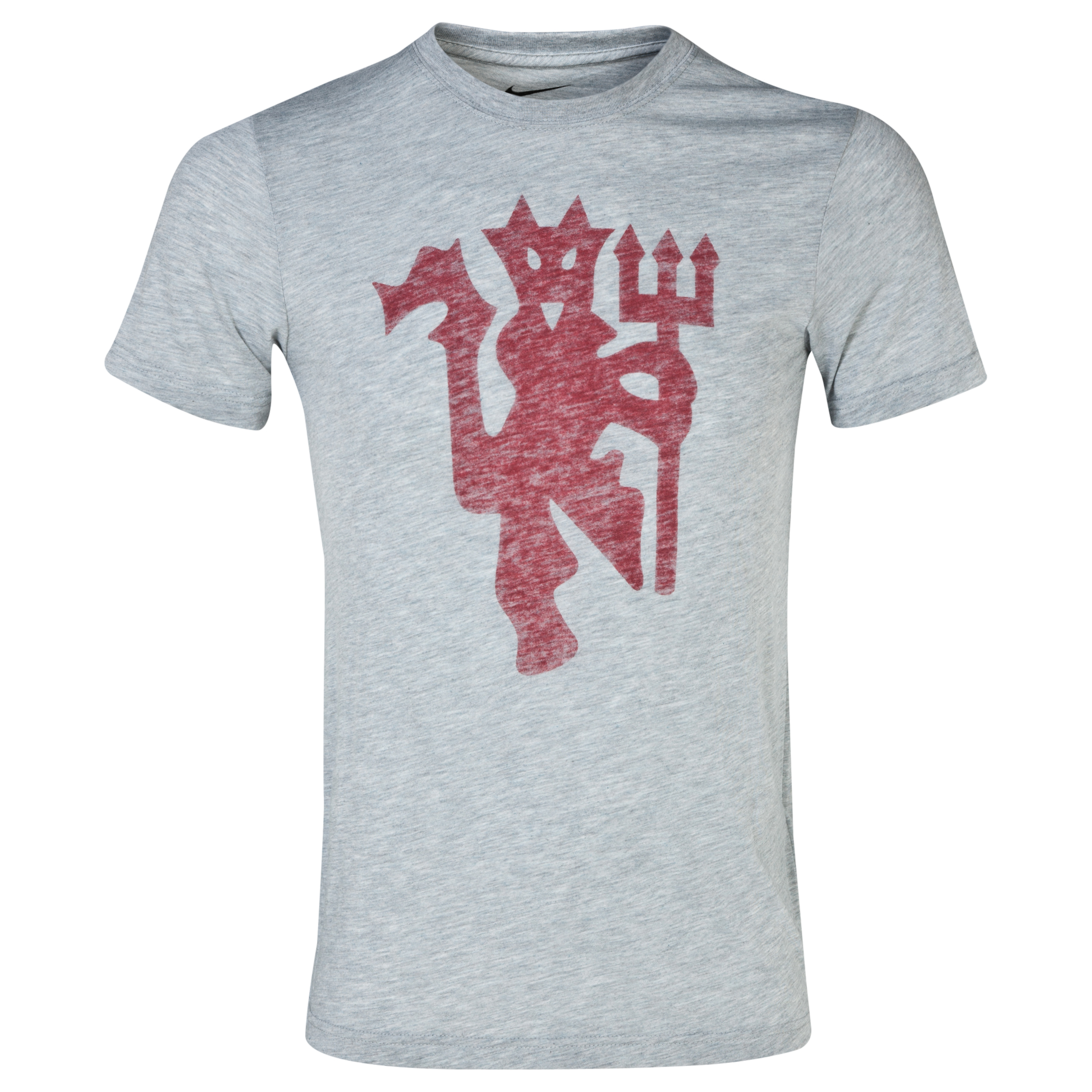 Manchester United Covert Graphic T-Shirt - Dark Grey Heather Dk Grey