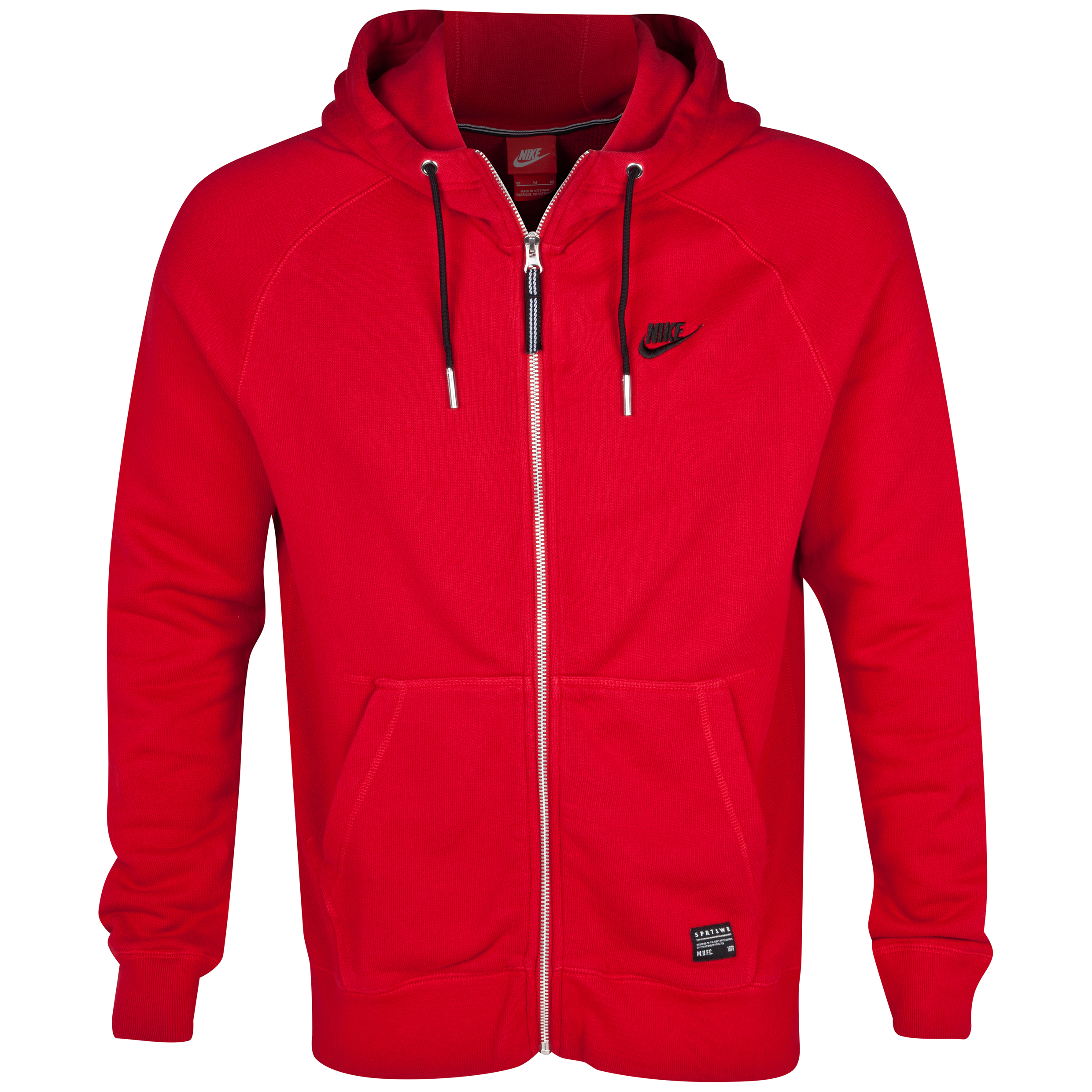 Manchester United Covert AW77 Full Zip Hoody - Gym Red/Black Red