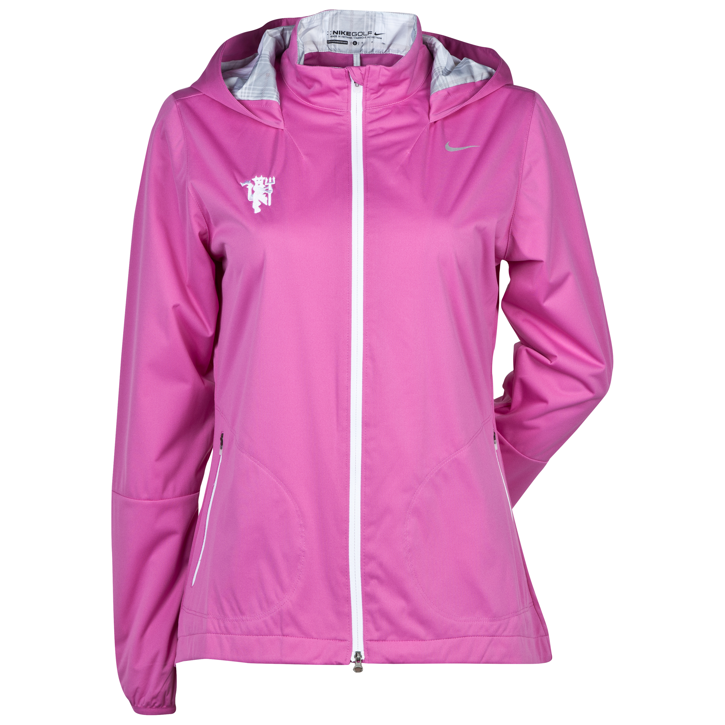 Manchester United Windproof Anorak - Club Pink/White/Metallic Silver - Womens Pink