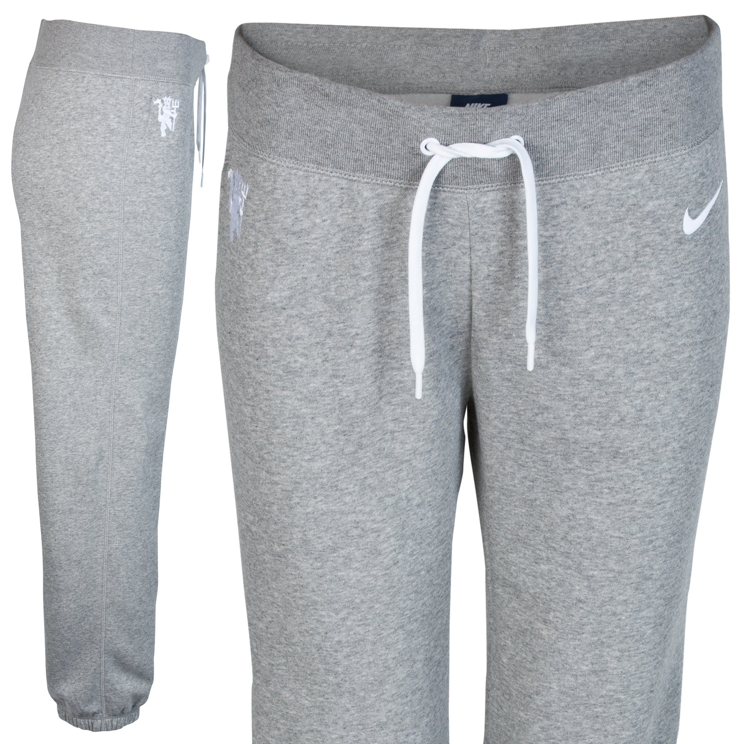 Manchester United Club Pant - Dark Grey Heather/White - Womens Dk Grey