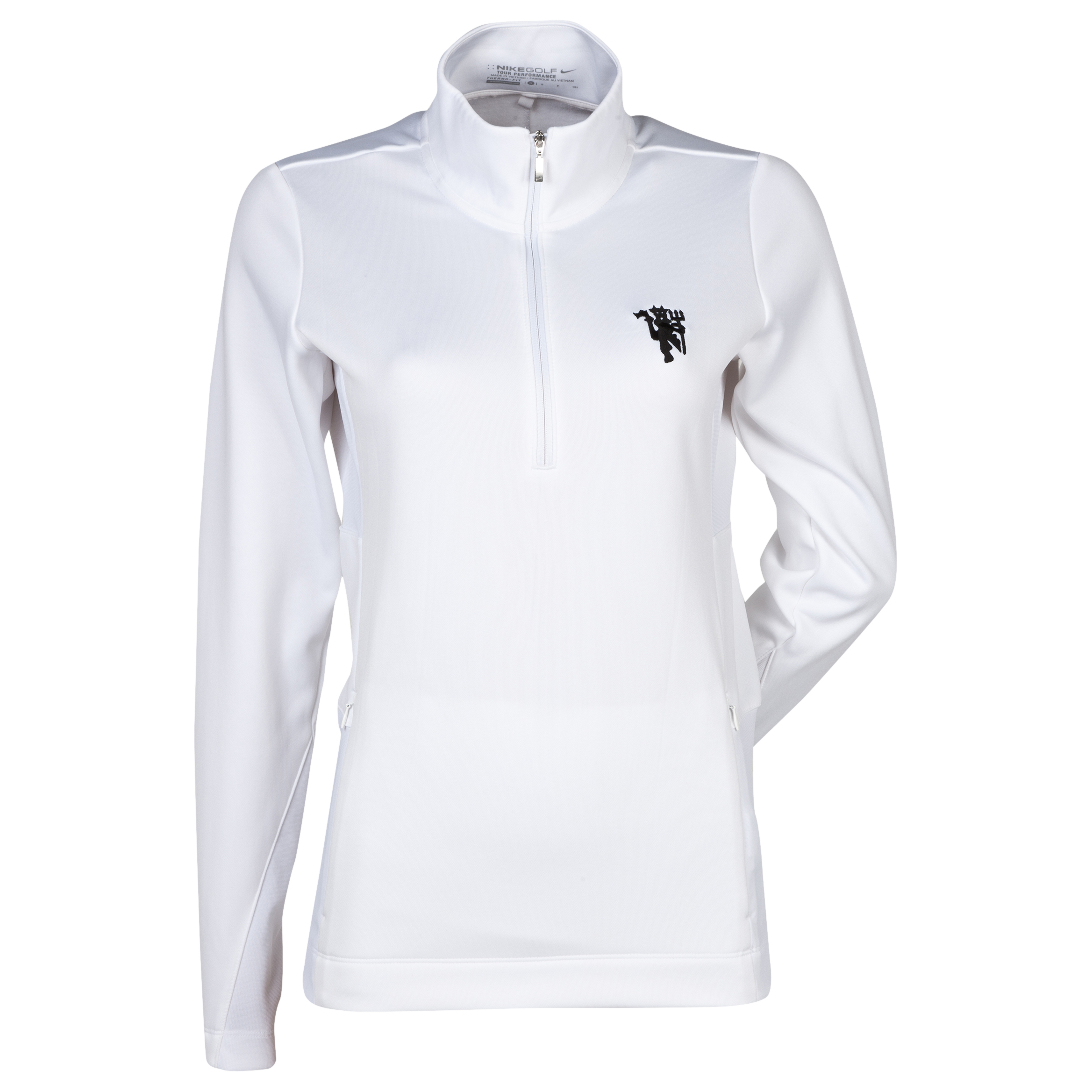 Manchester United Thermal 1/2 Zip Top - White/Black - Womens White