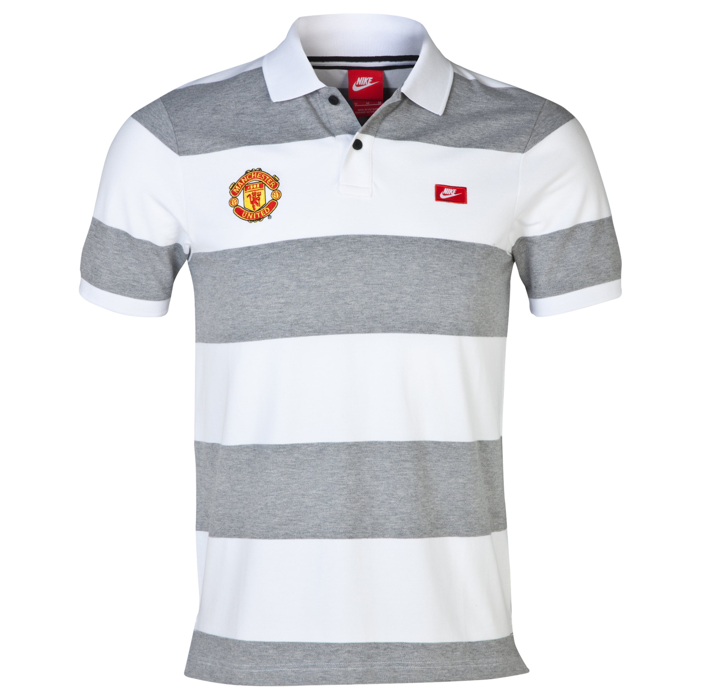 Manchester United Grand Slam Slim Polo - White White