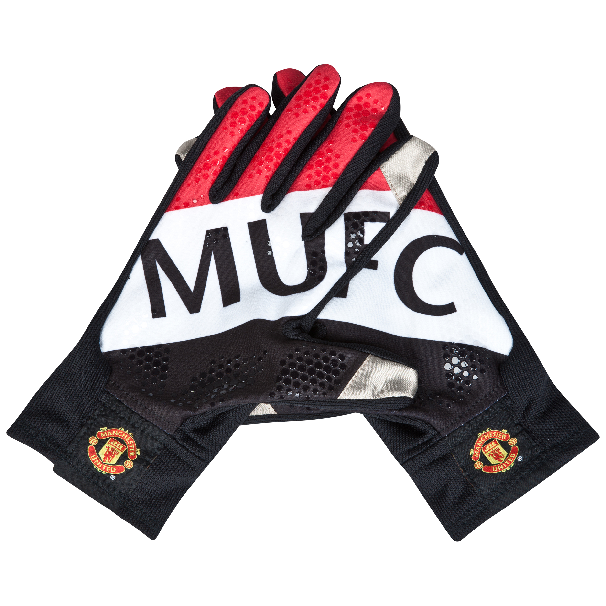 Manchester United Fan Glove - Black/White/Red Black