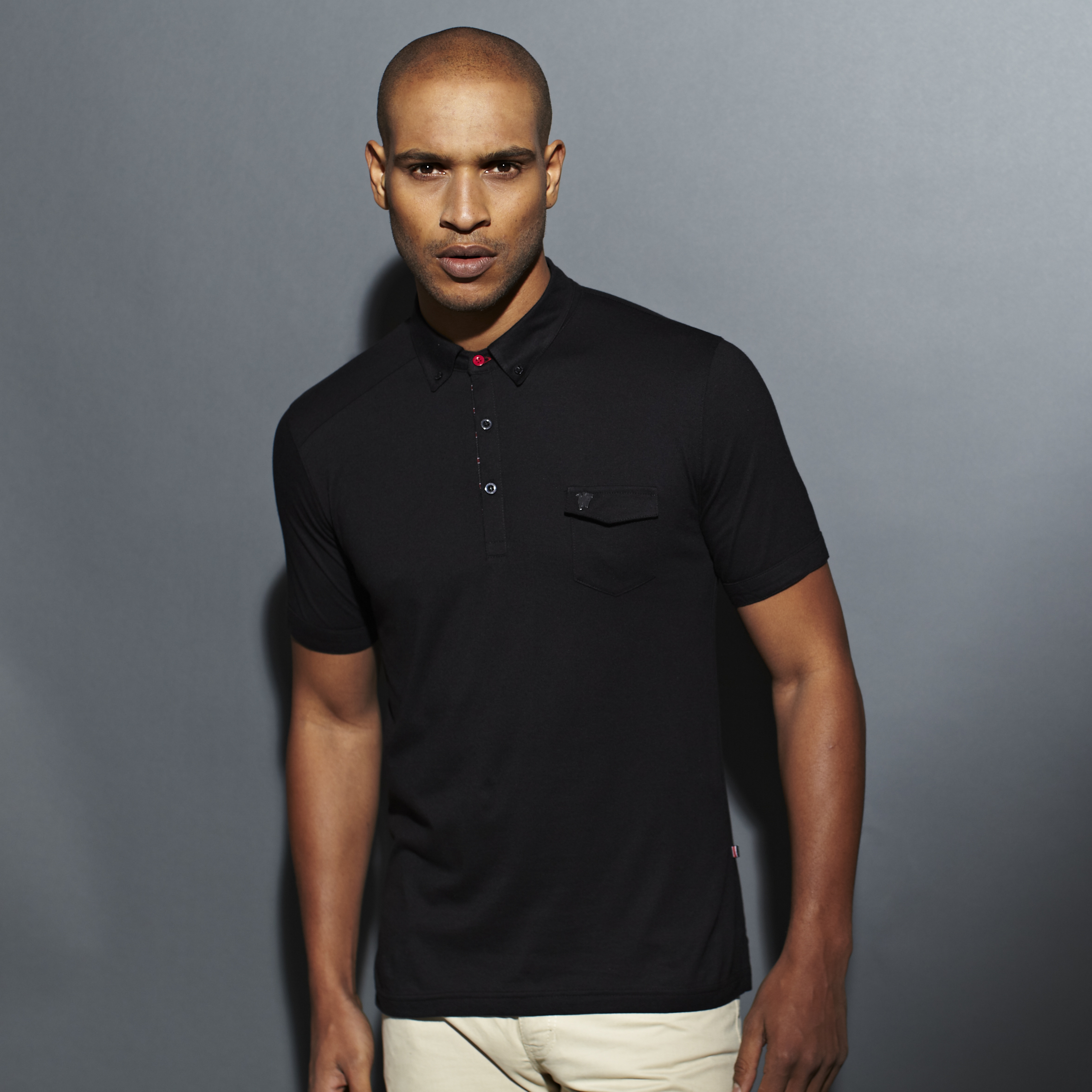 Manchester United Red Label Pocket Polo - Mens Black