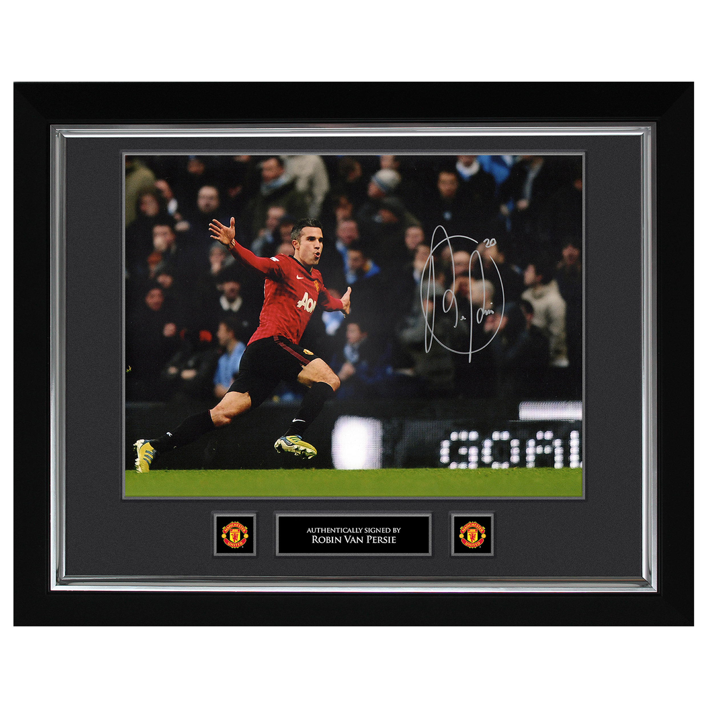 Manchester United Van Persie Celebration Signed Print - 20 x 16 Inch