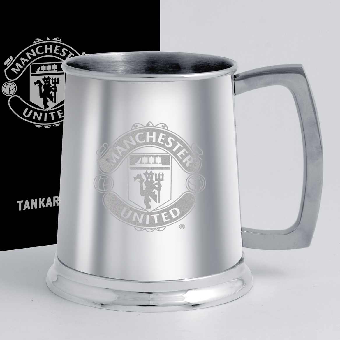 Manchester United Pint Tankard - Stainless Steel