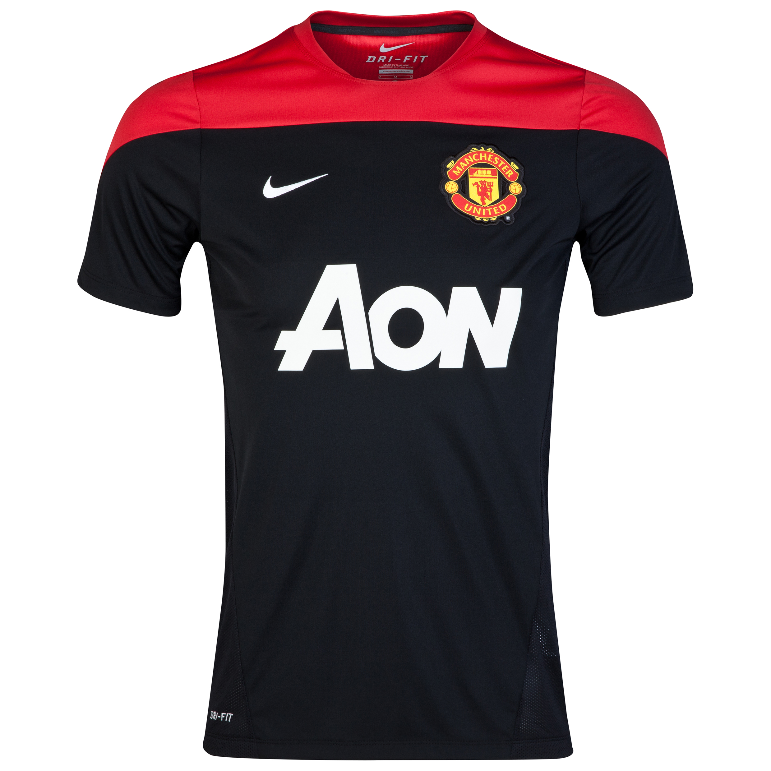Manchester United Squad Short Sleeve Training Top Black