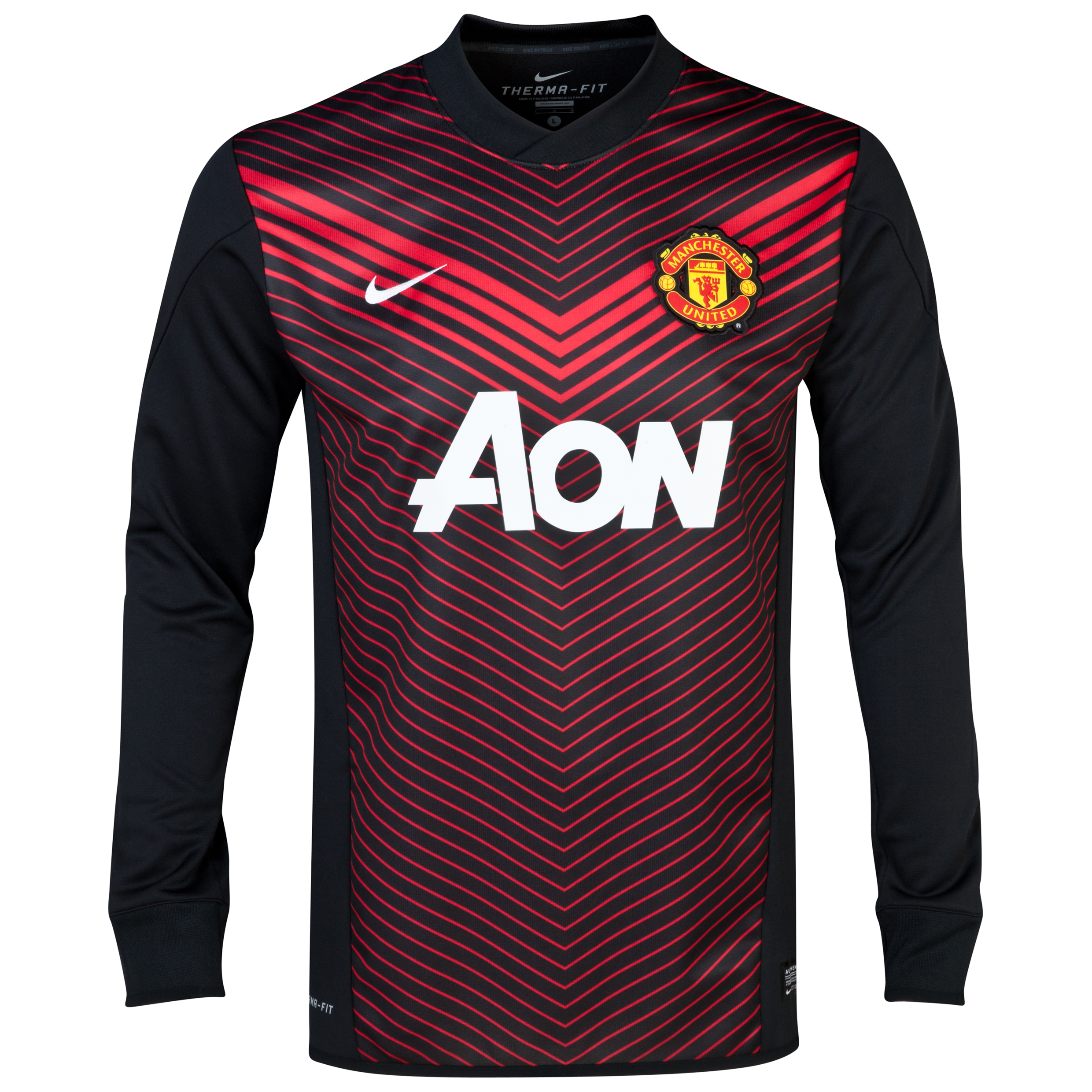 Manchester United Squad Long Sleeve Thermal Pre Match Top Black