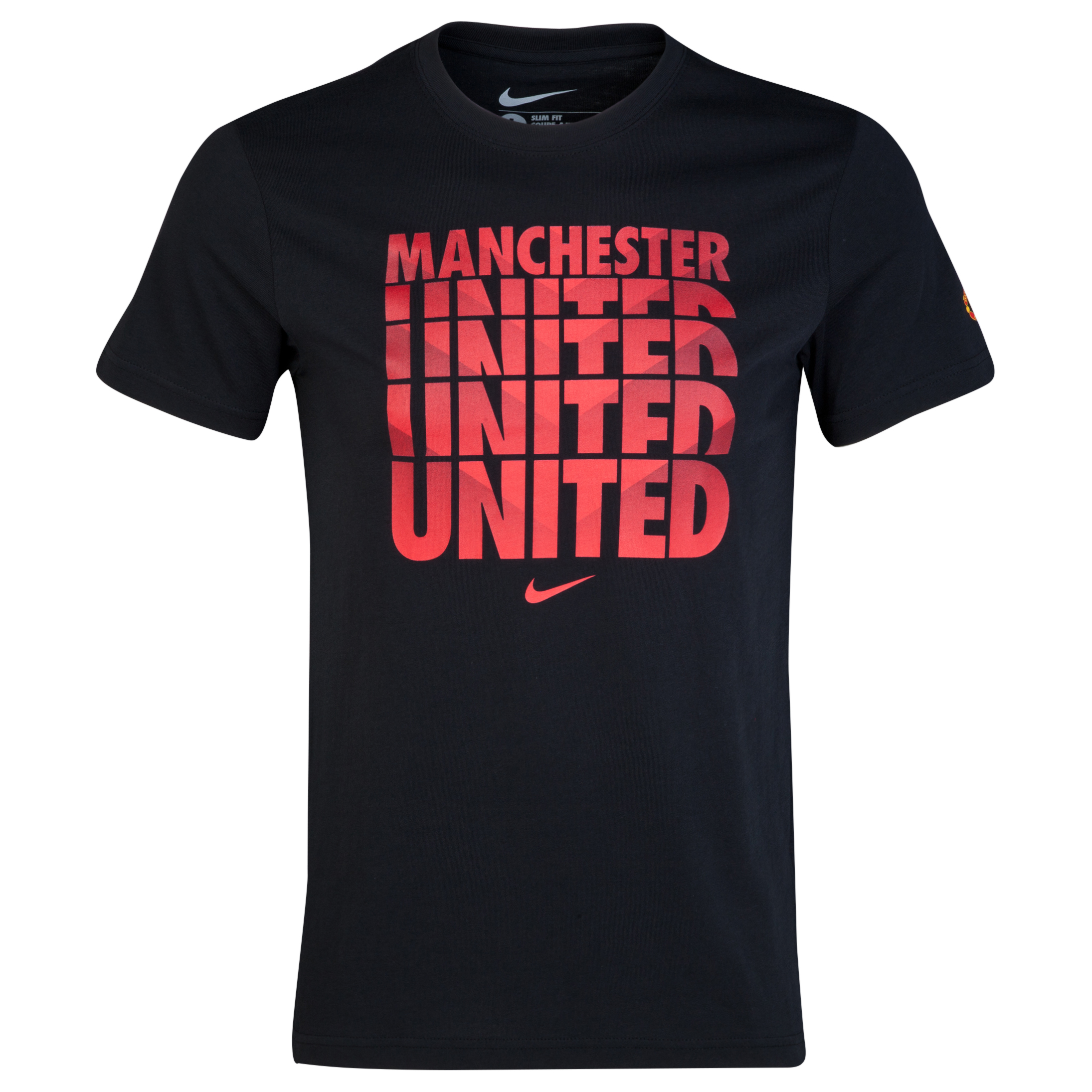 Manchester United Core Type T-Shirt Black