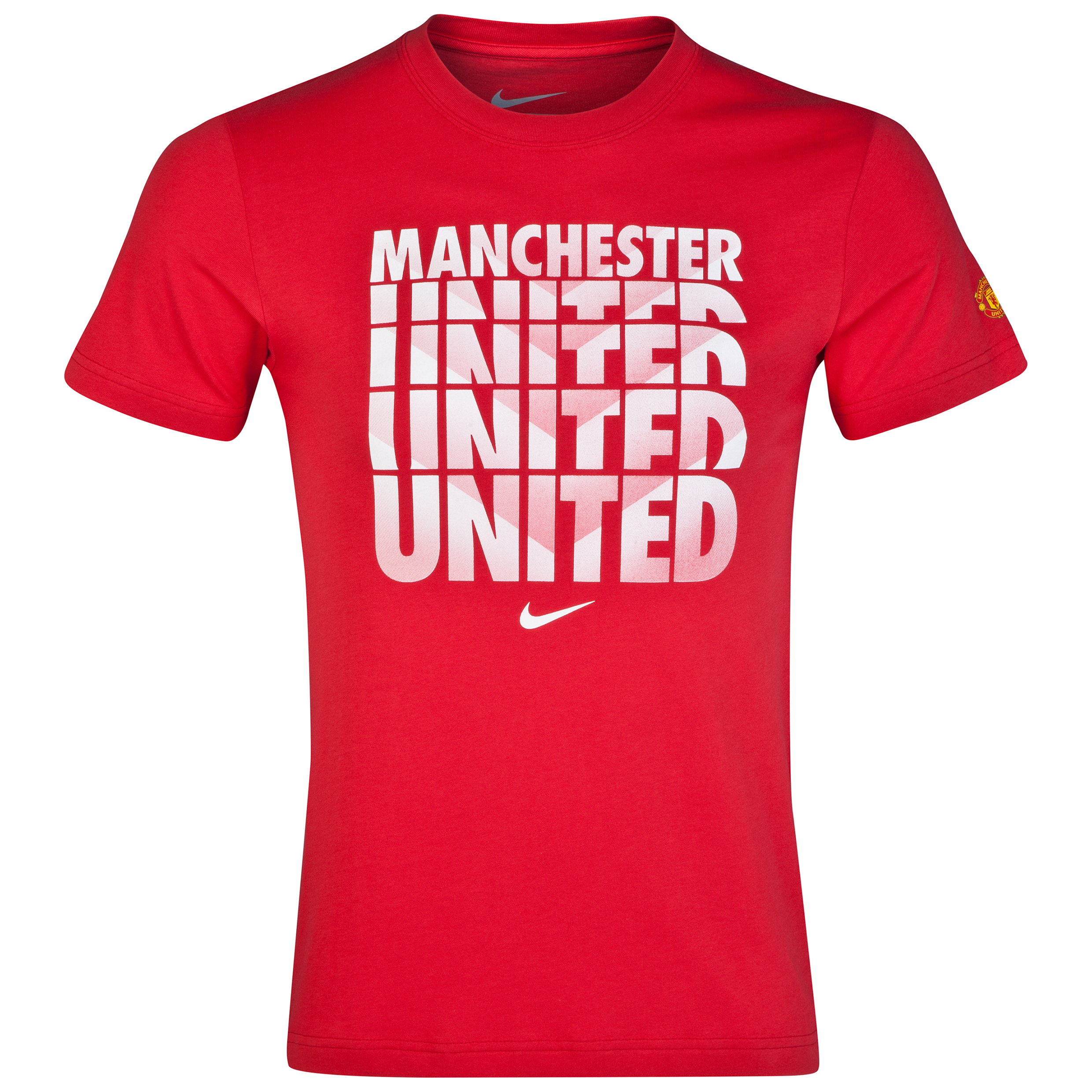 Manchester United Core Type T-Shirt Red