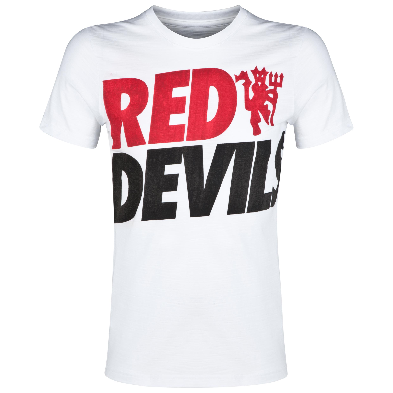 Manchester United Covert T-Shirt White