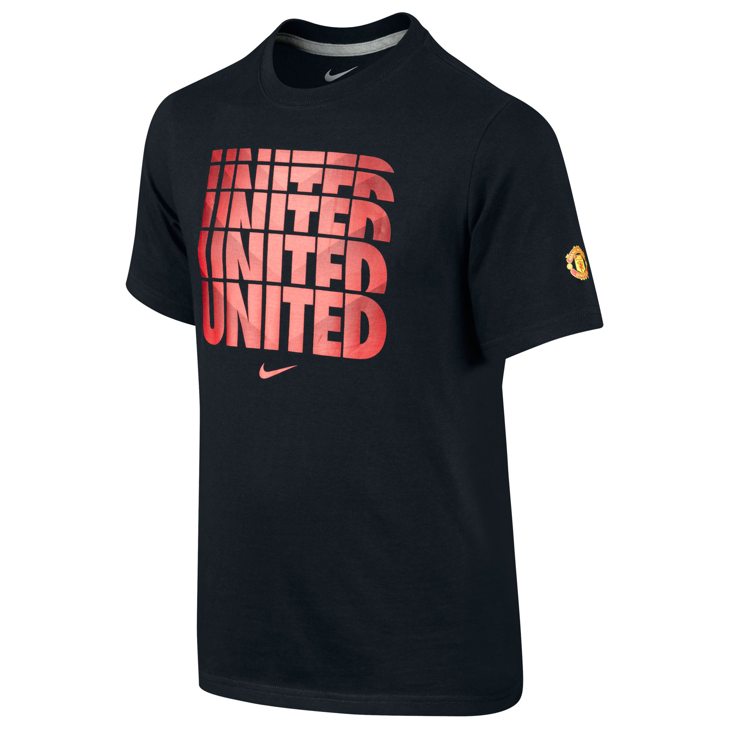 Manchester United Core Type T-Shirt - Kids Black
