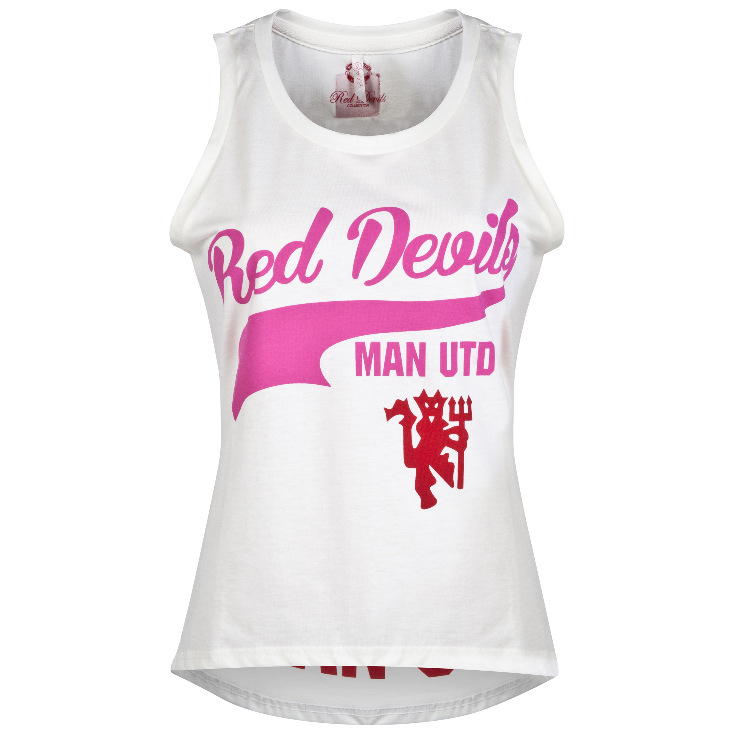 Manchester United Dipped Hem Vest - Womens Cream
