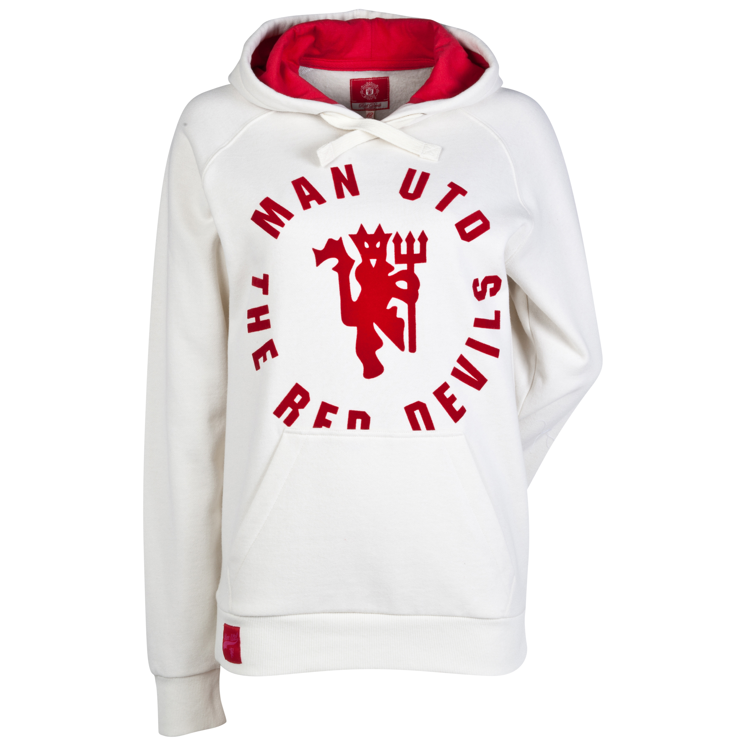 Manchester United The Red Devils Over The Head Hoodie - Womens Cream