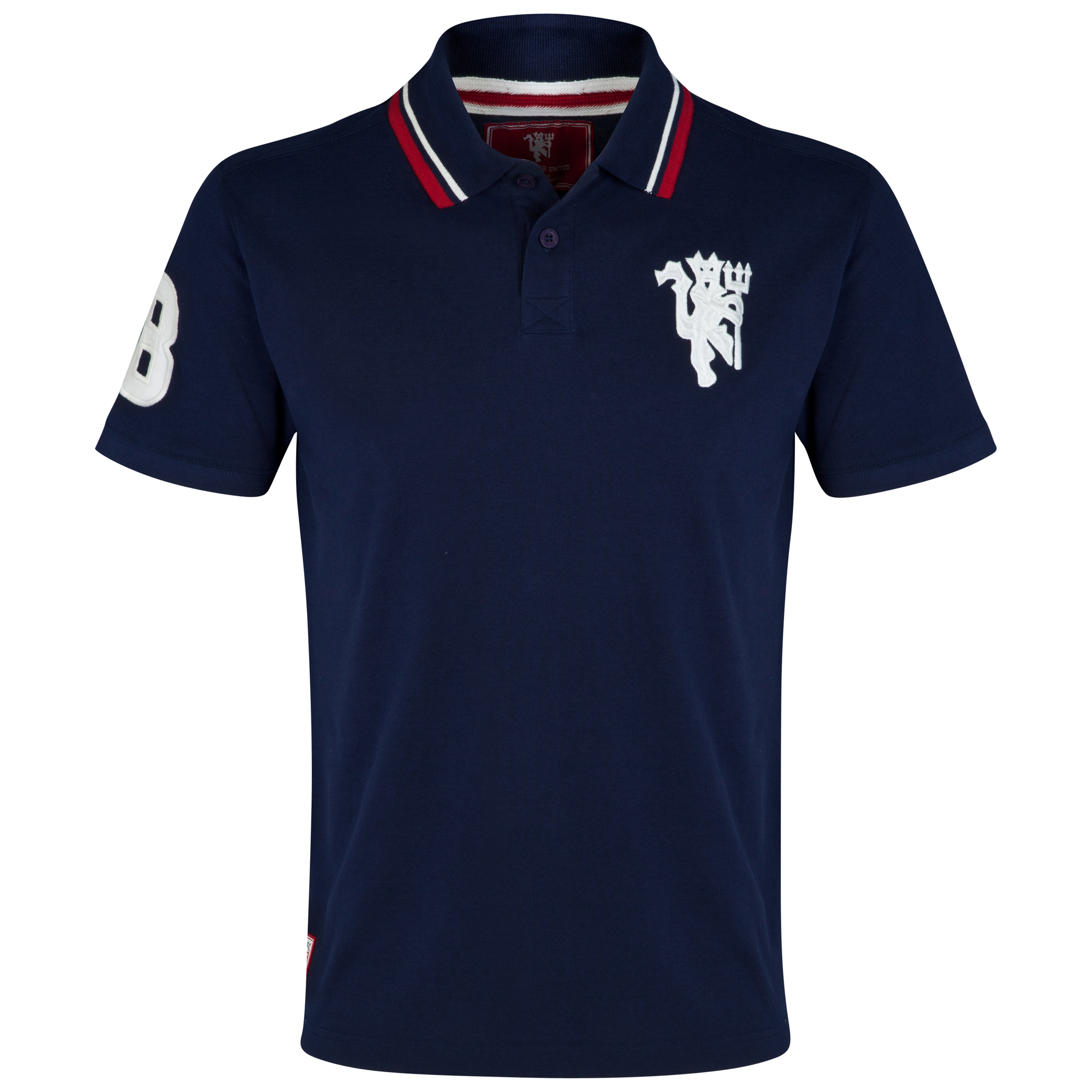 Manchester United Heritage Devil Polo Shirt - Mens Navy