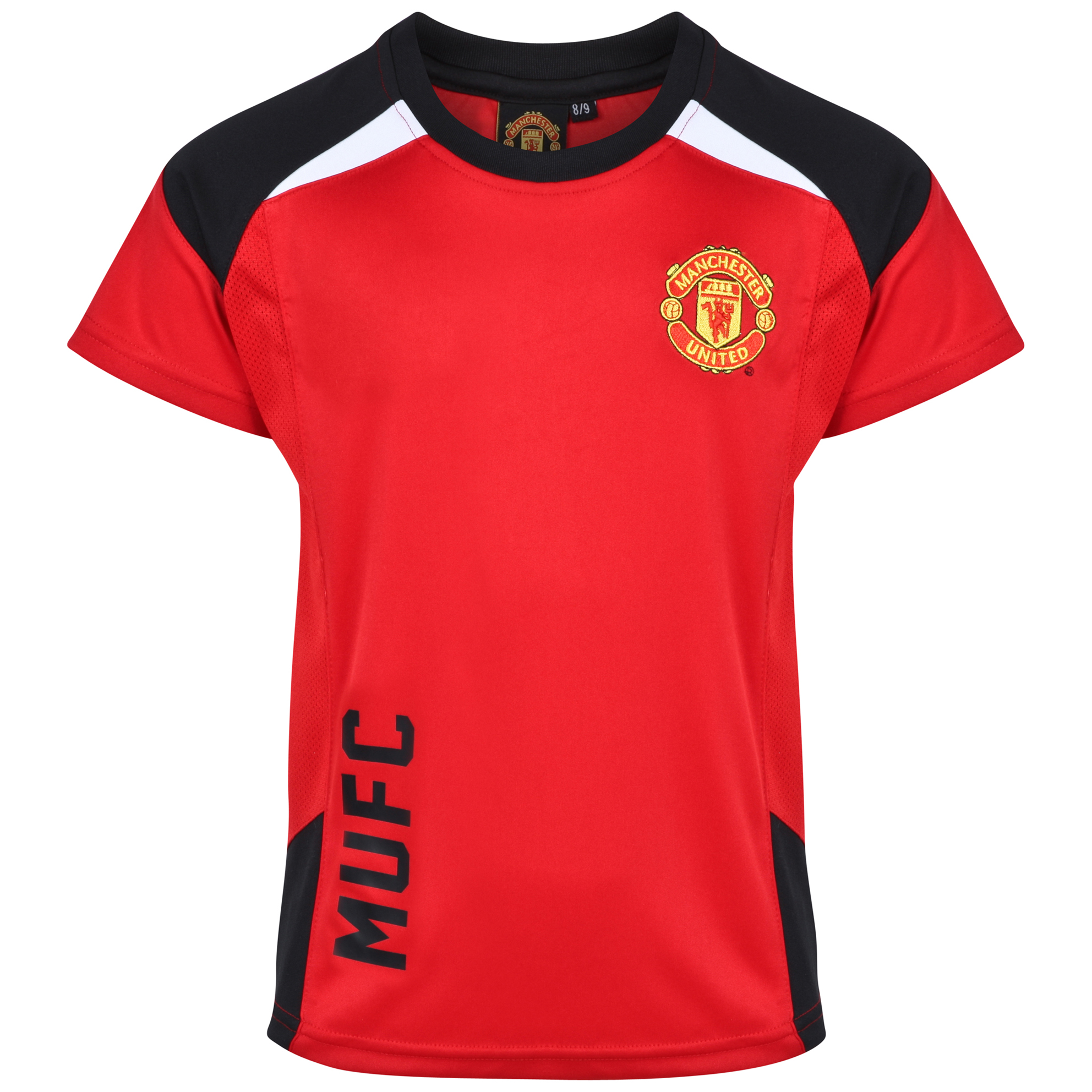 Manchester United Classic Poly Panel T-Shirt - Older Boys Red