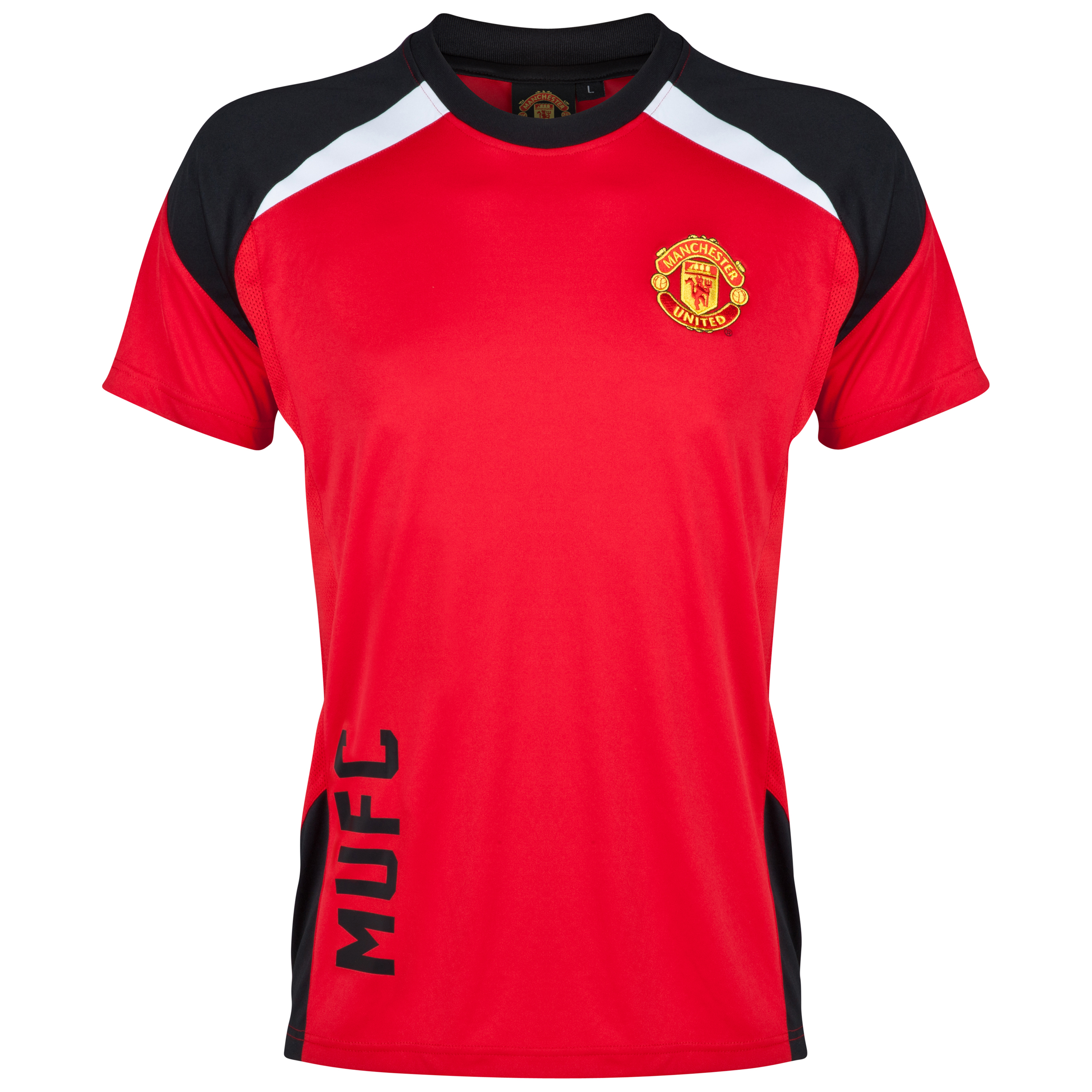 Manchester United Classic Poly Panel T-Shirt - Mens Red