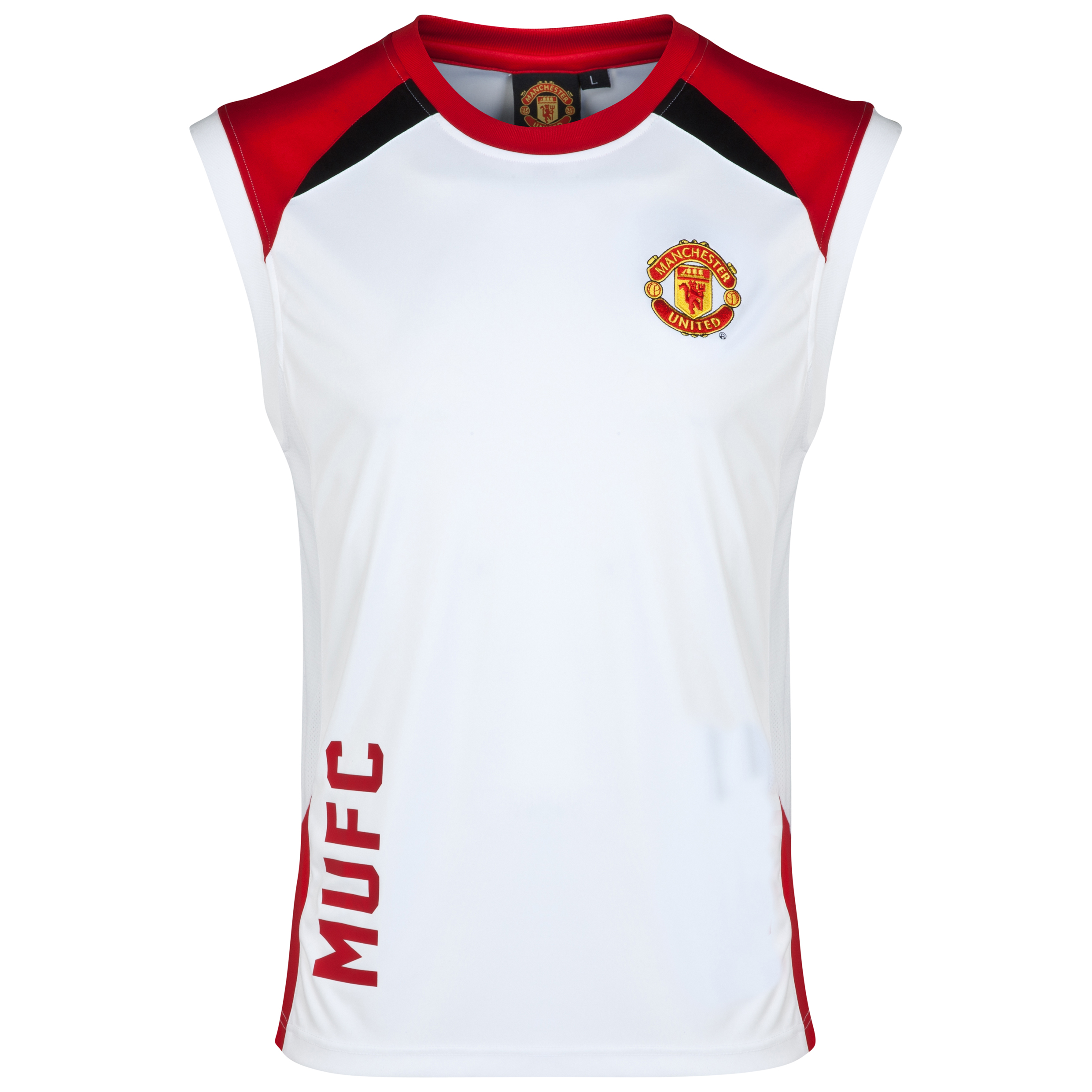 Manchester United Classic Poly Panel Vest - Older Boys White