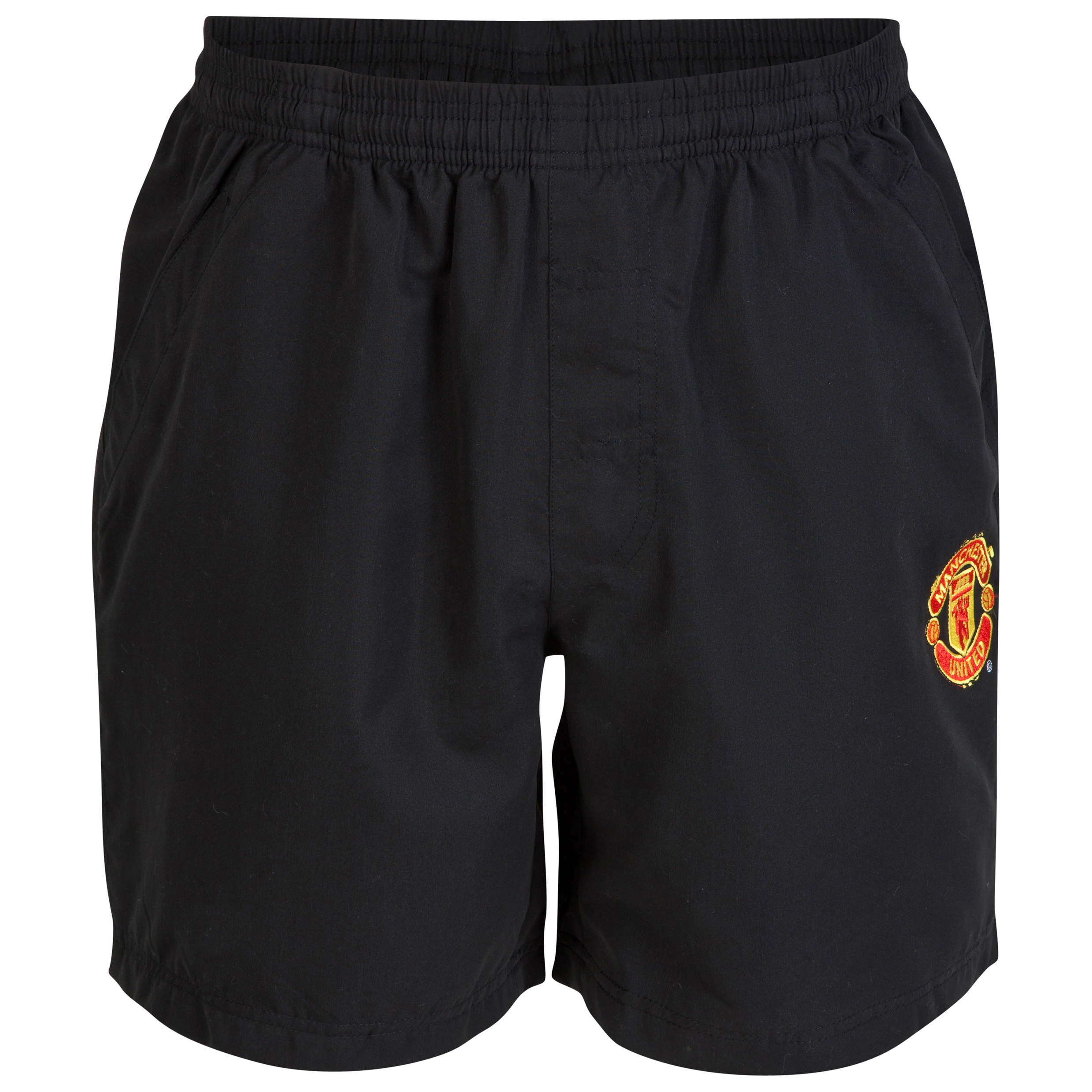 Manchester United Classic Woven Shorts - Older Boys Black