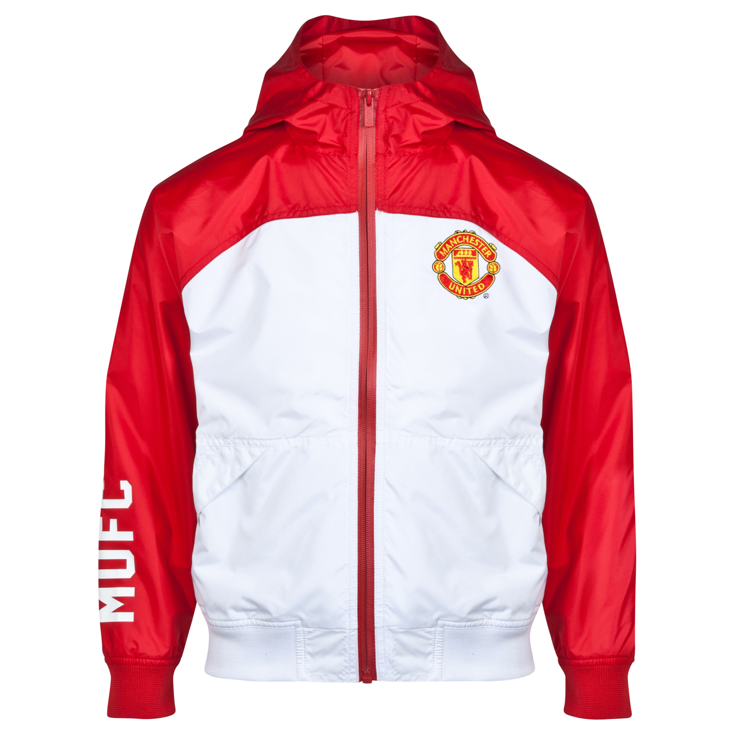 Manchester United Classic Shower Jacket - Older Boys Red