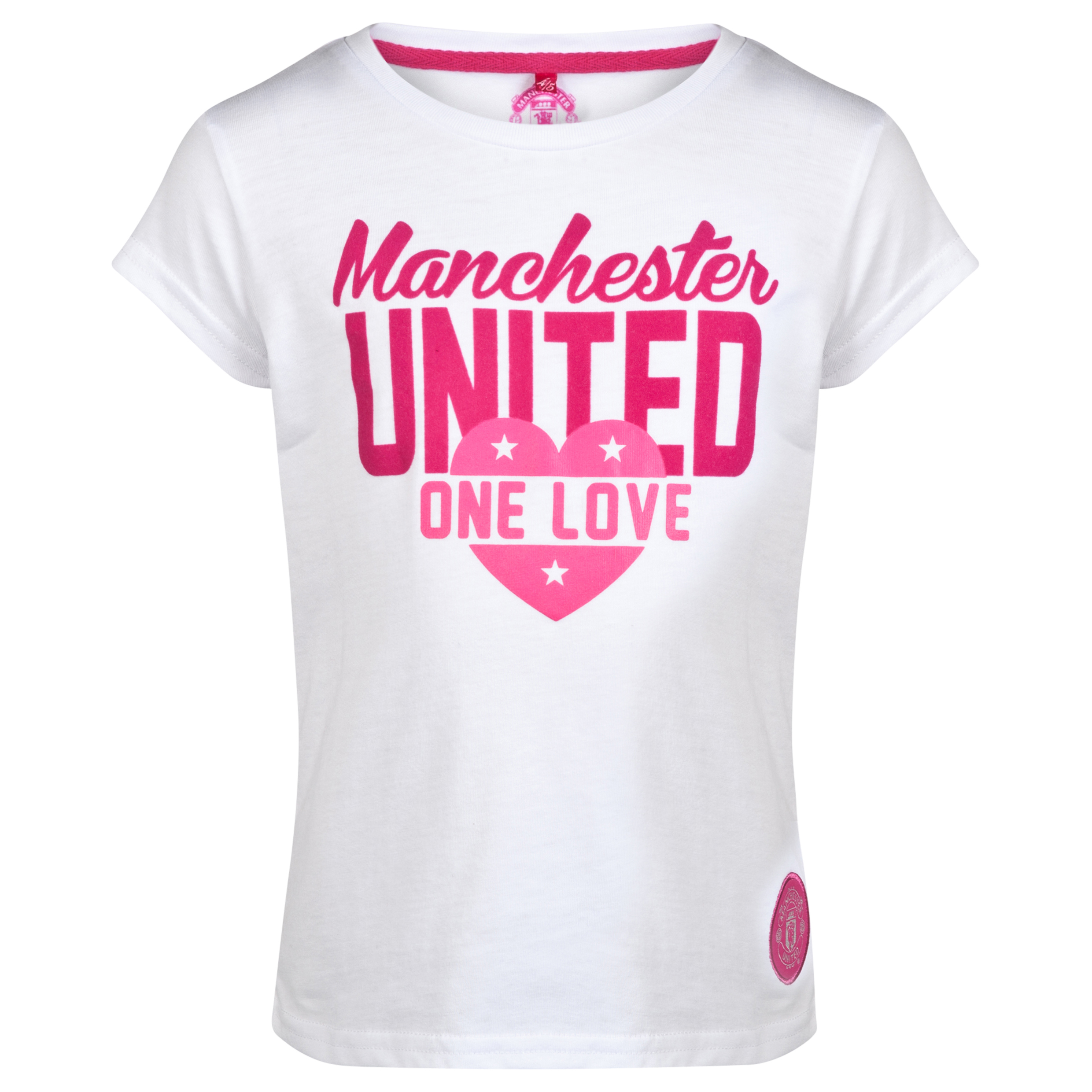 Manchester United Graphic T-Shirt - Girls White
