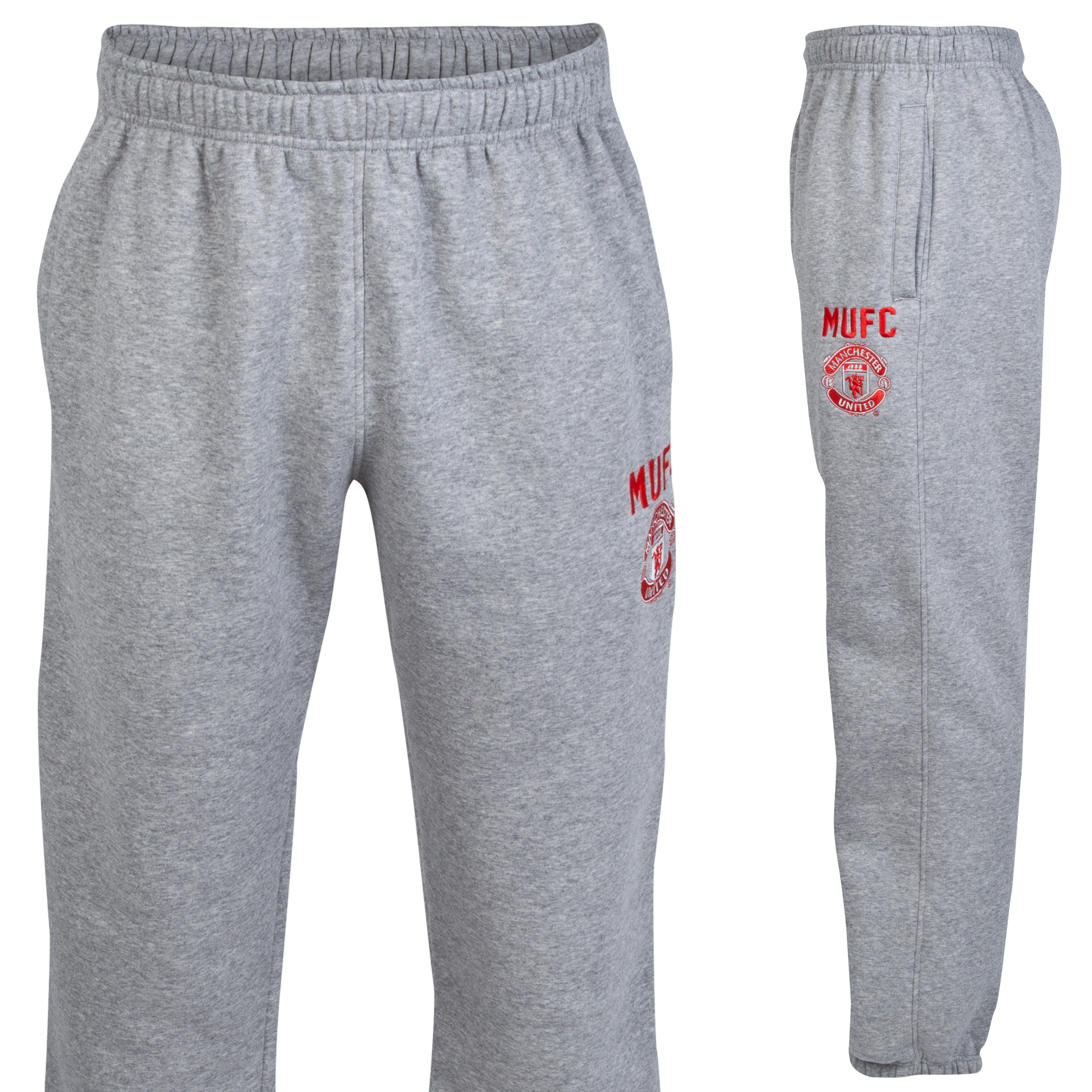 Manchester United Classic Fleece Jogger - Mens Grey
