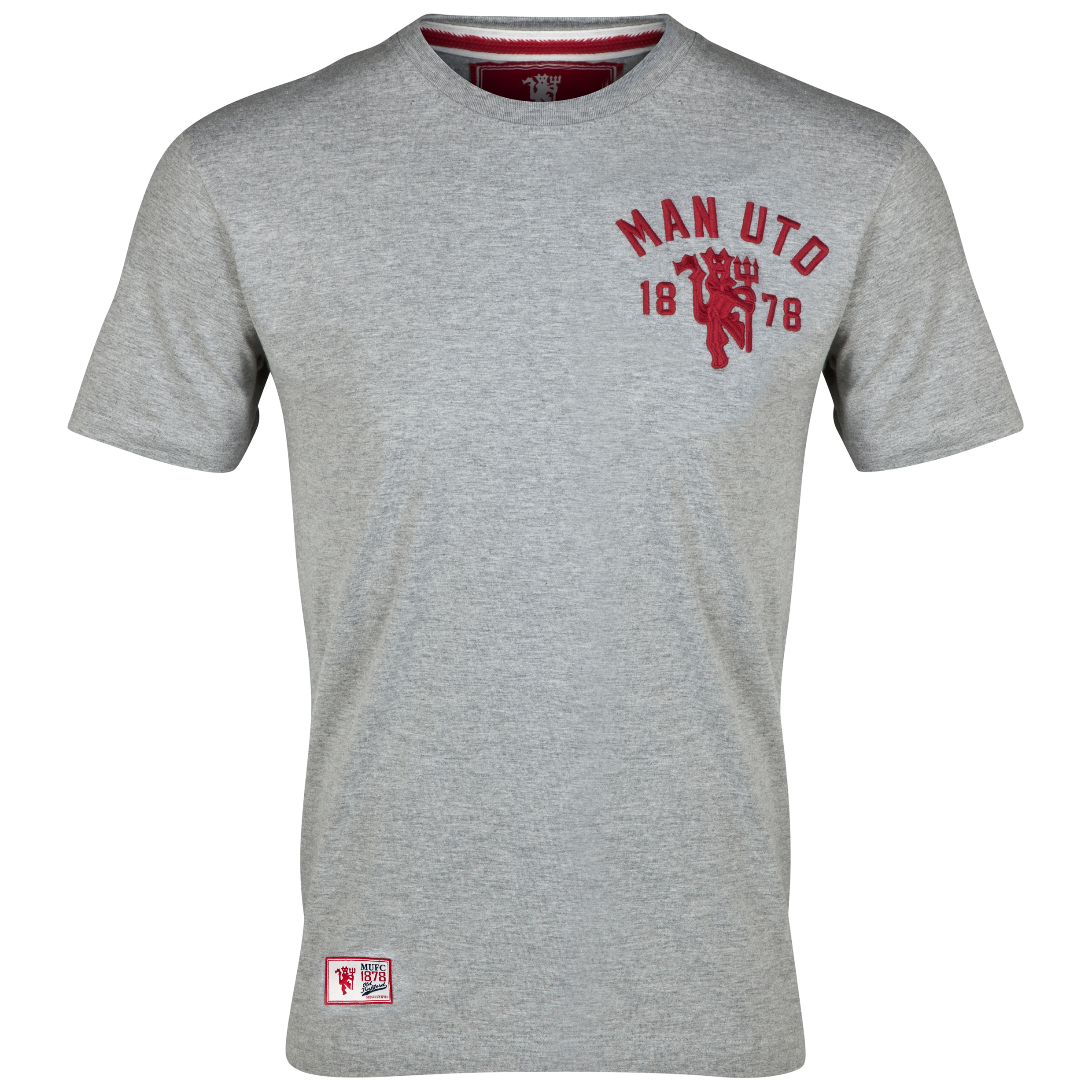 Manchester United Heritage Devil T-Shirt - Mens Grey